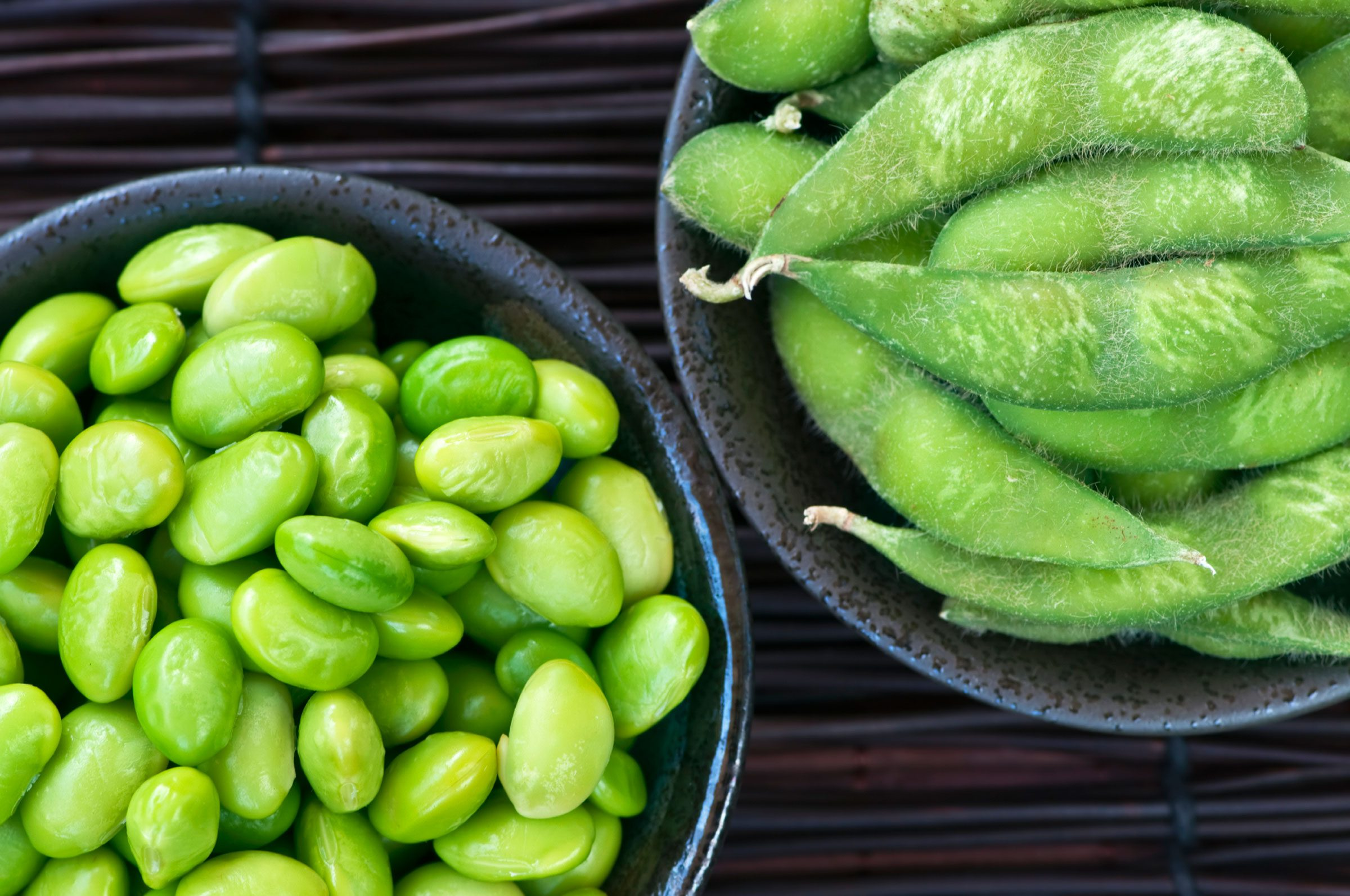 Go to the freezer section for frozen edamame.