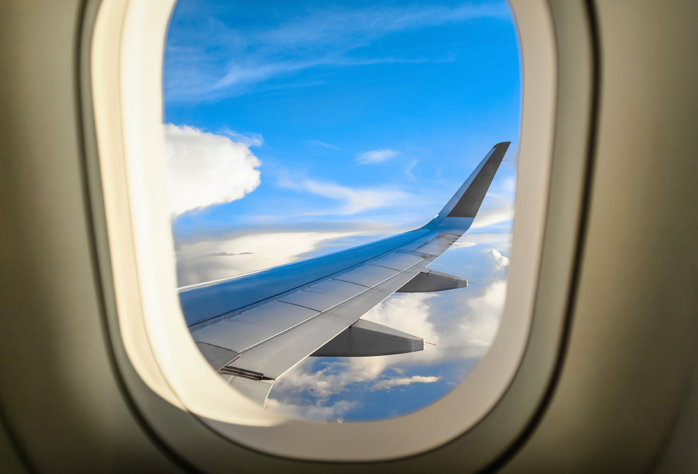 The smoothest place to sit is often over or near the wing.