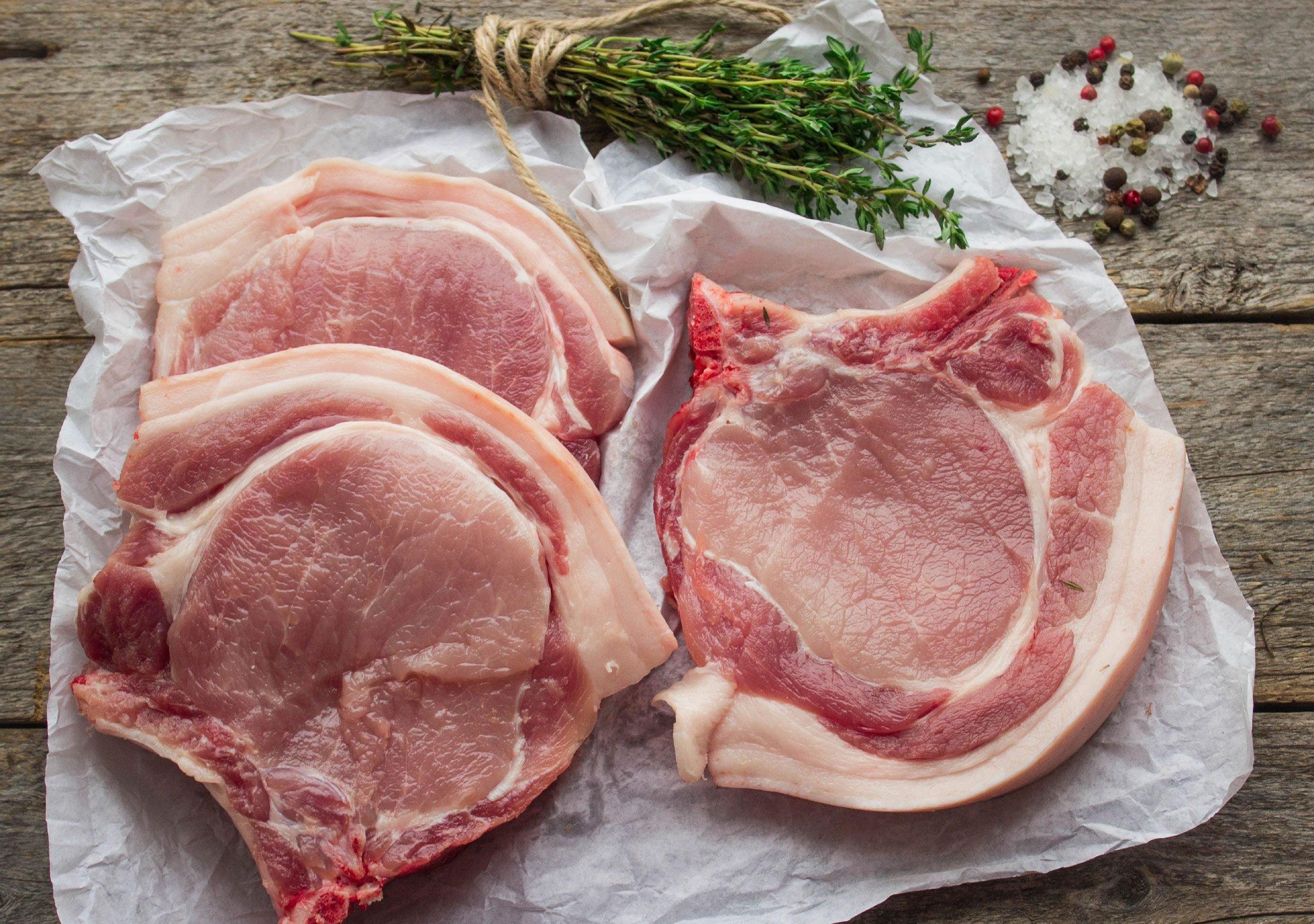 Pick up pork chops or a lean pork loin.
