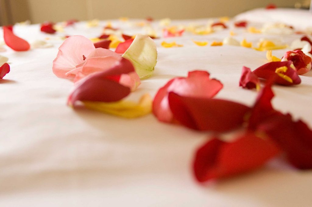 creative romantic ideas rose petals