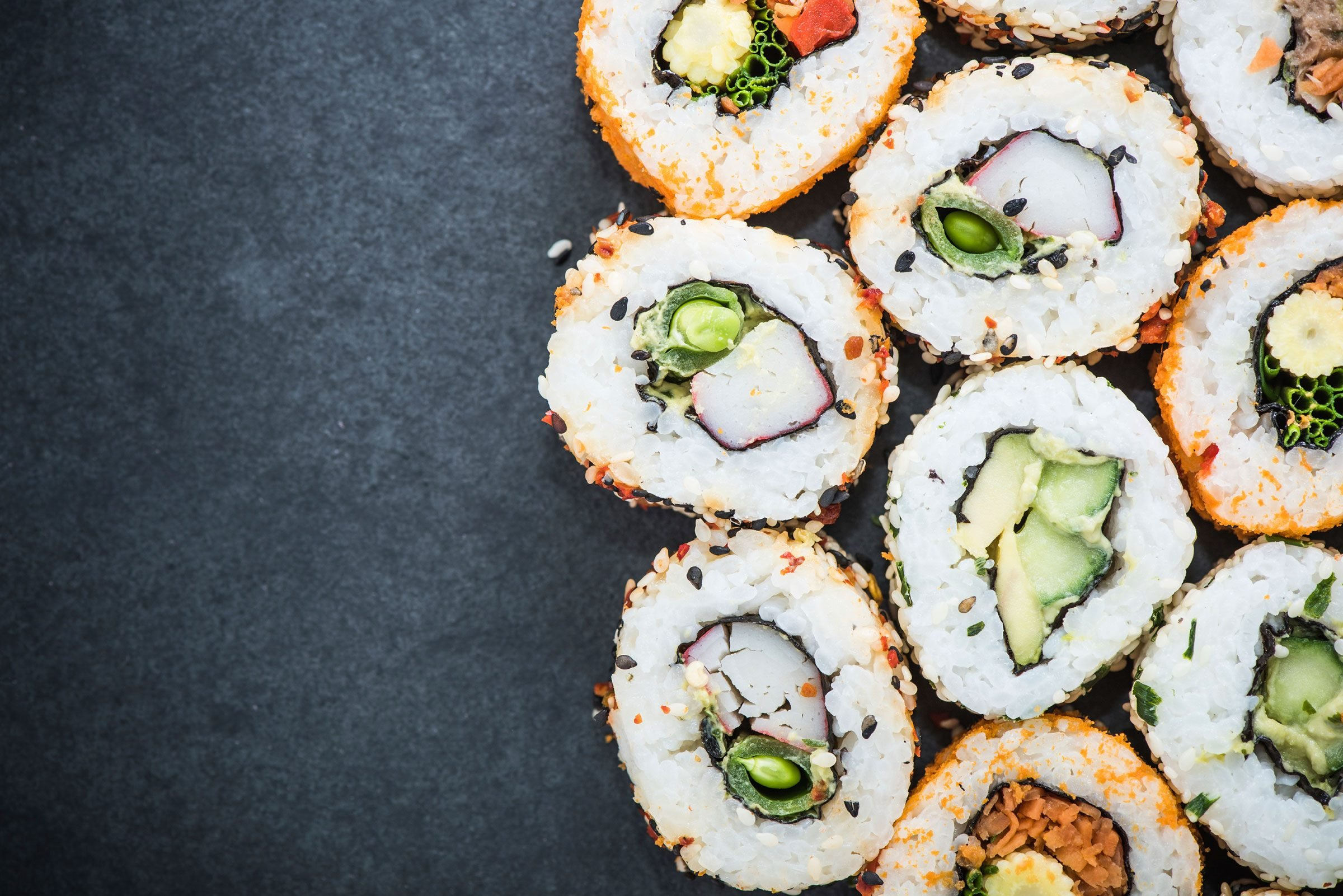 Head to the sushi station for a protein-packed prepared meal.