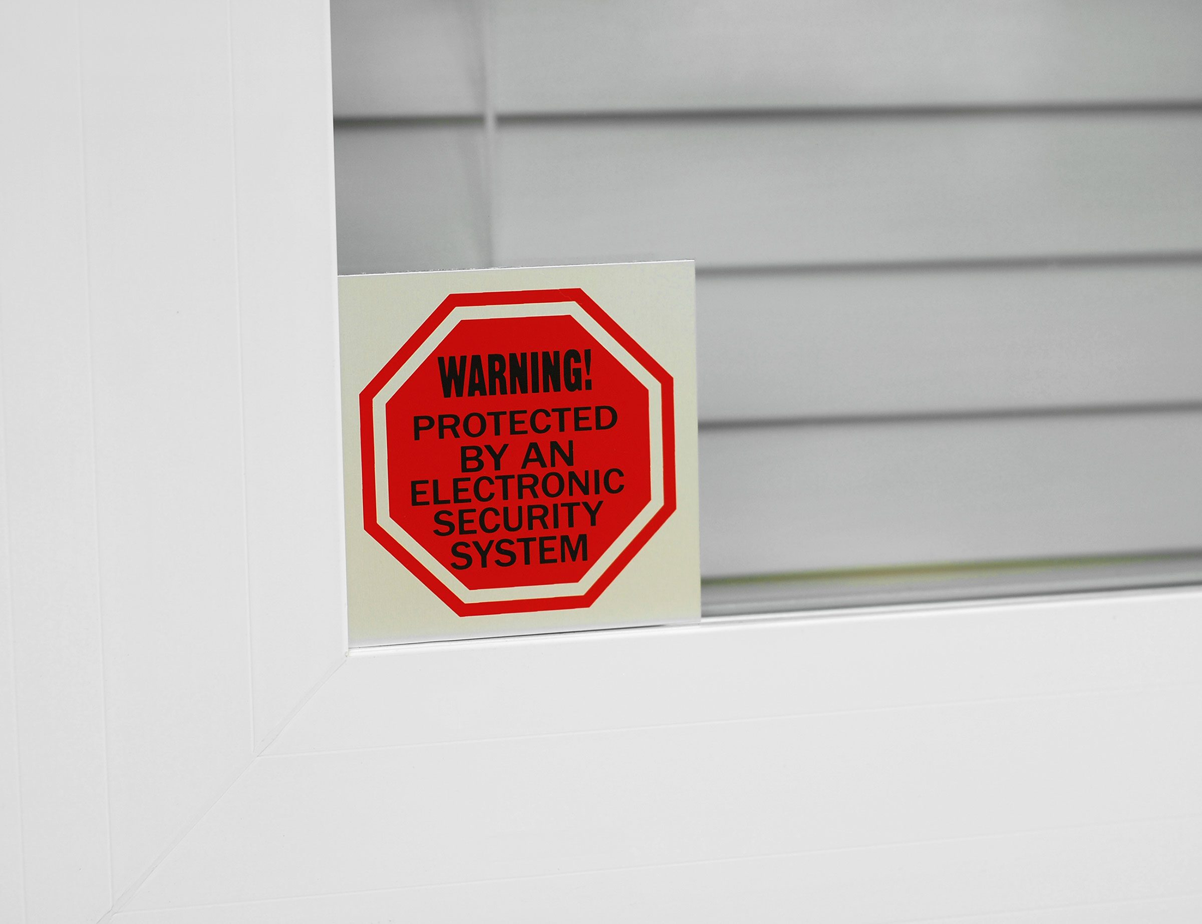12. If you don't have a security system, at least purchase a decal.