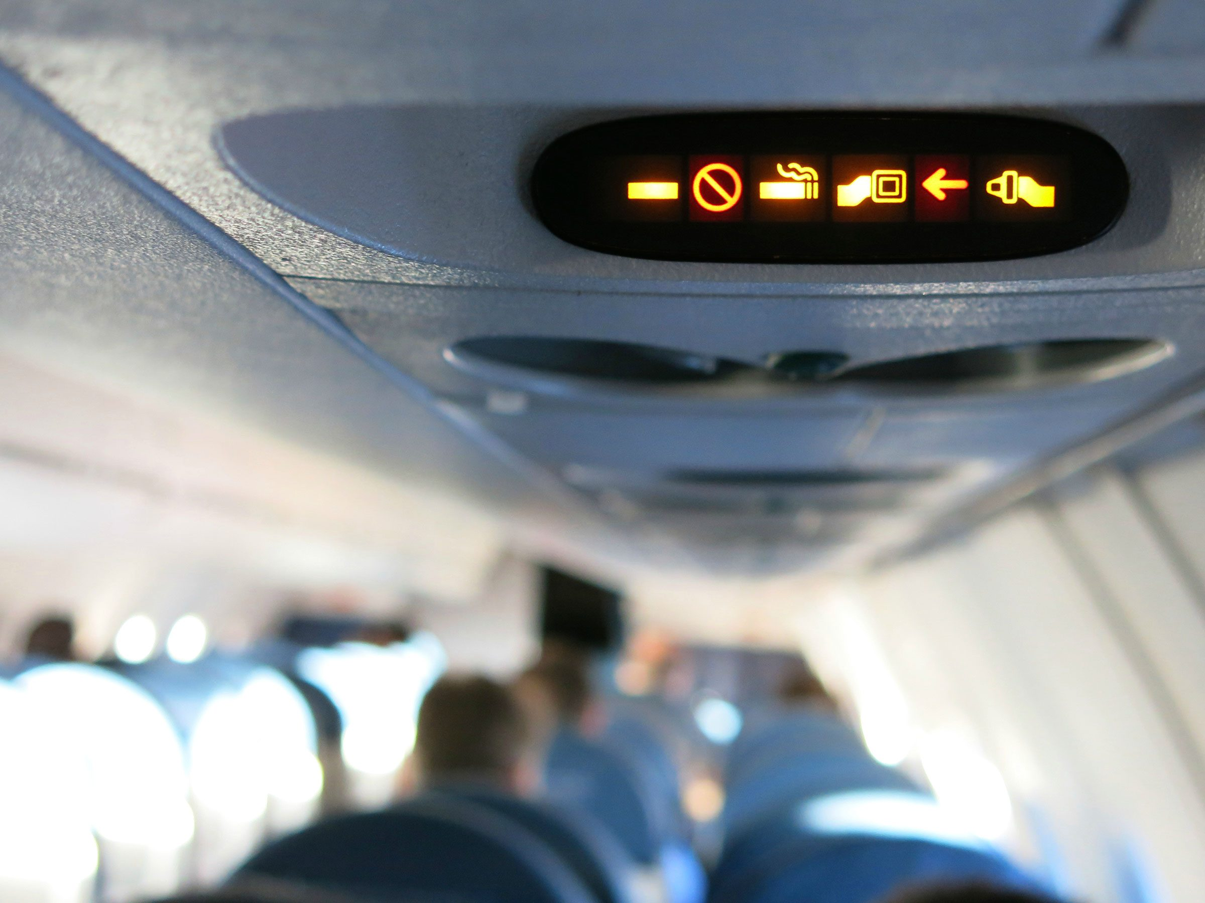It's one thing if the pilot puts the seat belt sign on for the passengers ...