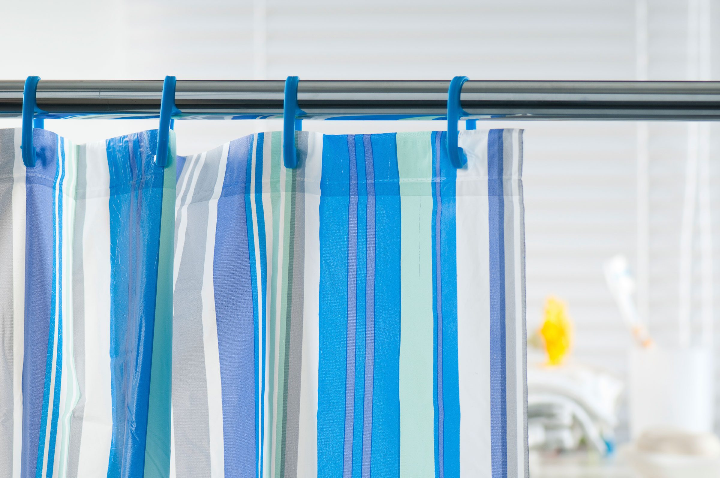 Make shower curtains slide more easily