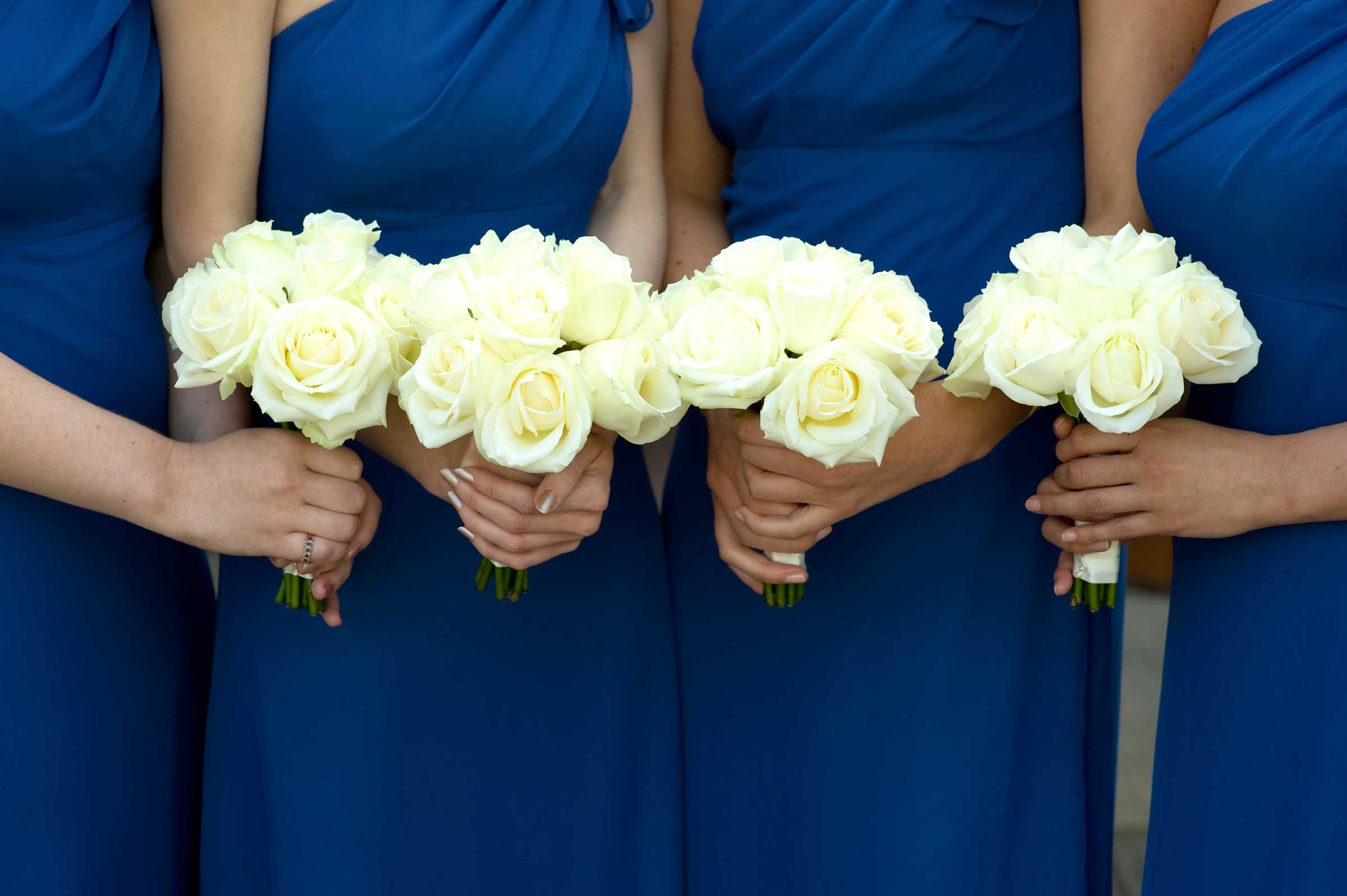 Choose your bridesmaids' dresses before you come to us.