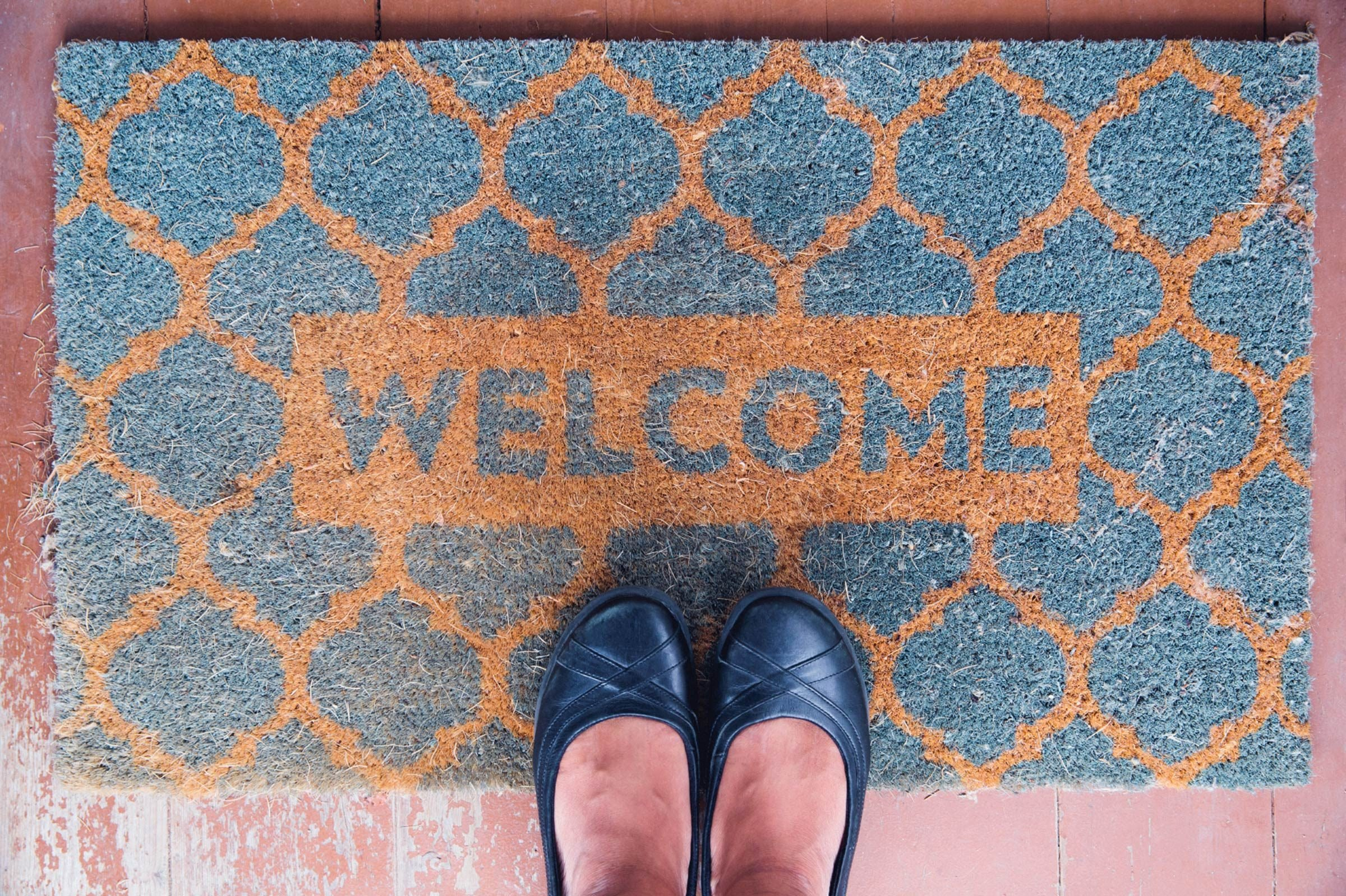 Make doormats welcoming