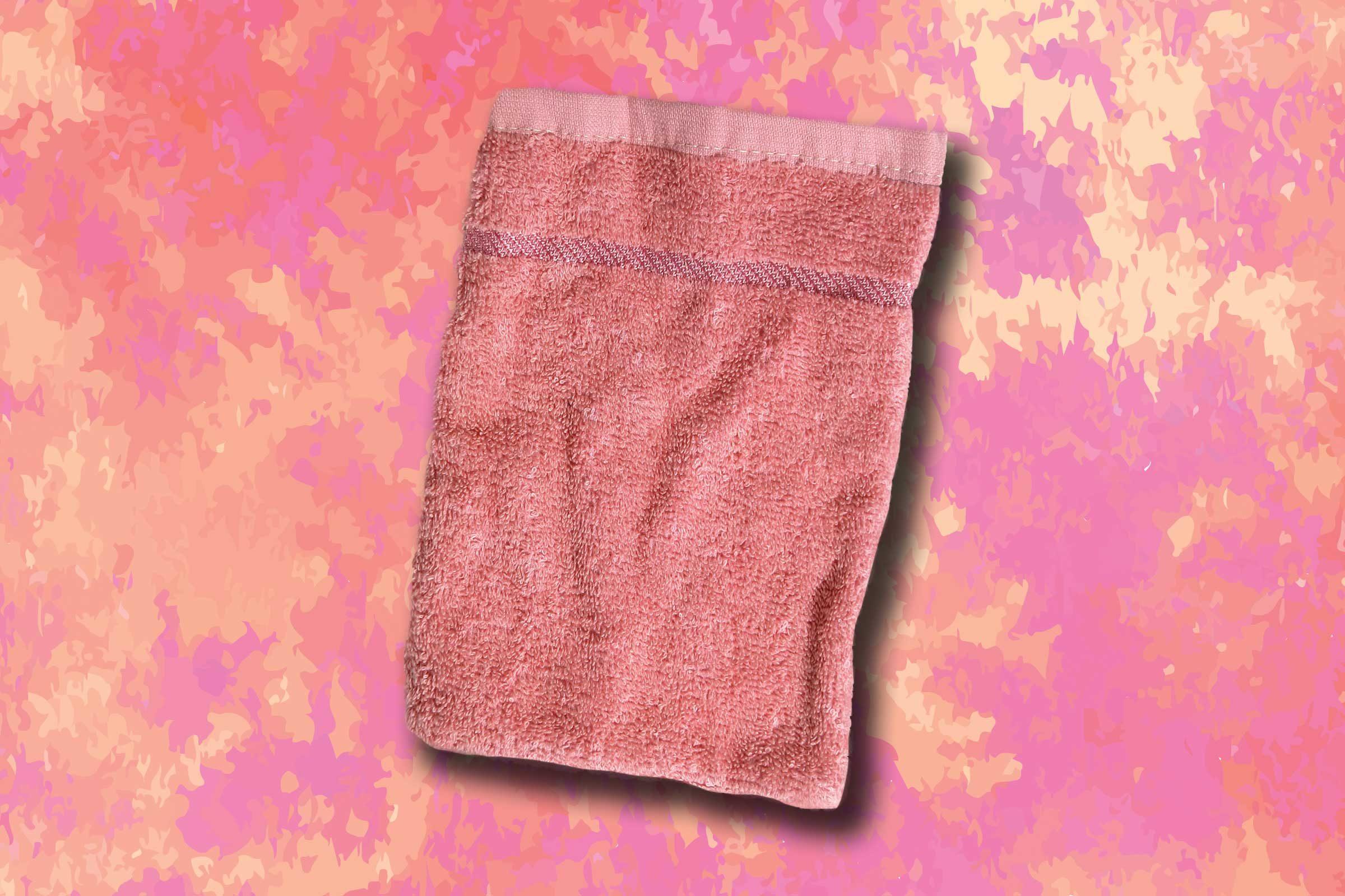 Scrubbing with a washcloth