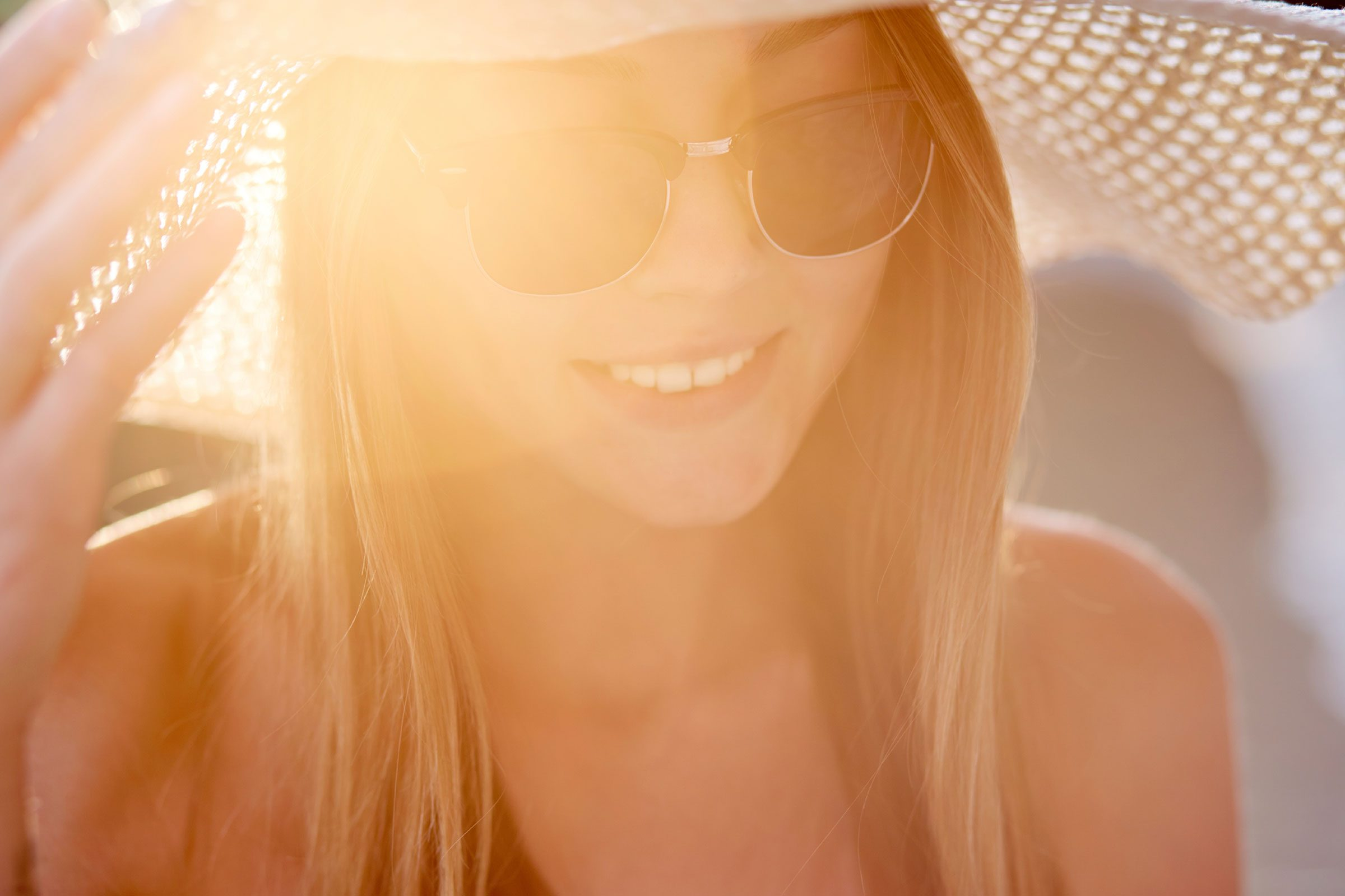 Never leave without a wide-brimmed hat and sunglasses.