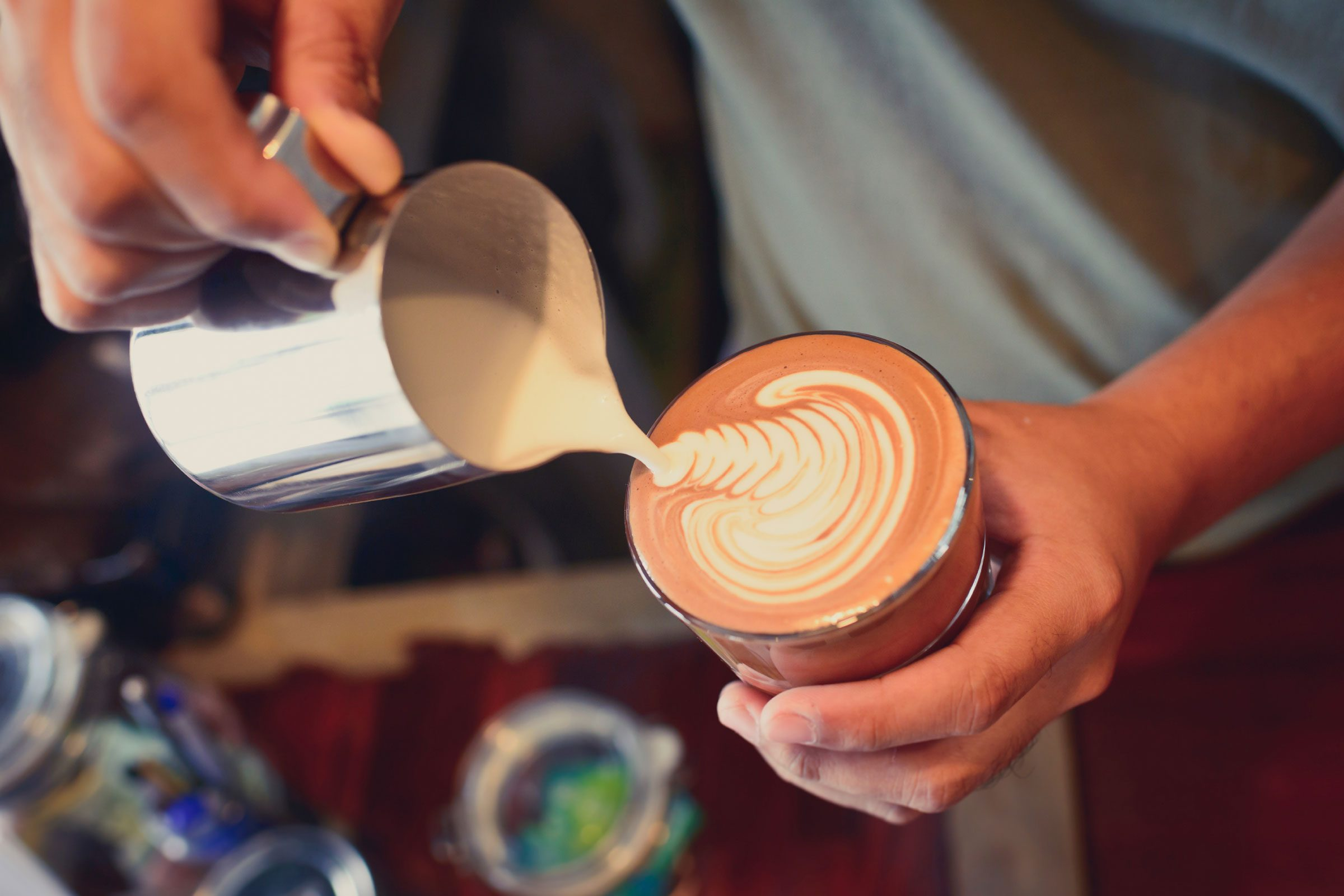6. Latte art isn't merely decorative