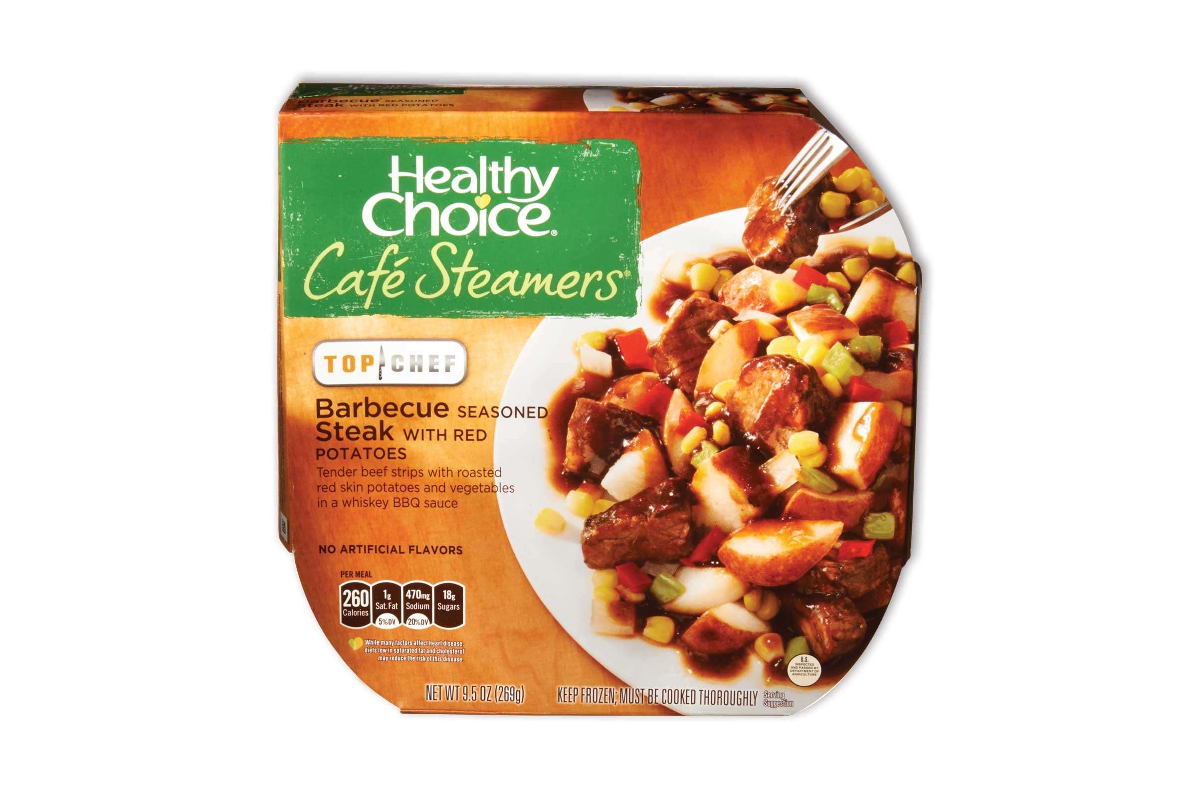 Healthy Choice Café Steamers Barbecue Seasoned Steak With Red Potatoes 260 Calories