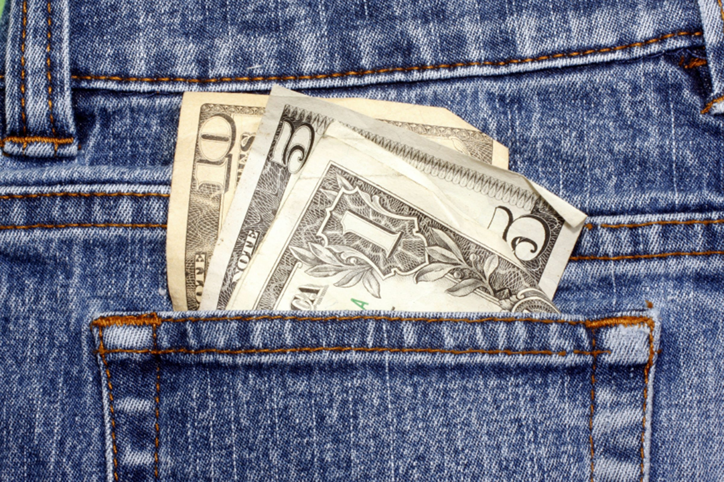 33. When using a new maid service, leave a few dollars hanging out of a pants pocket or lying on the counter.