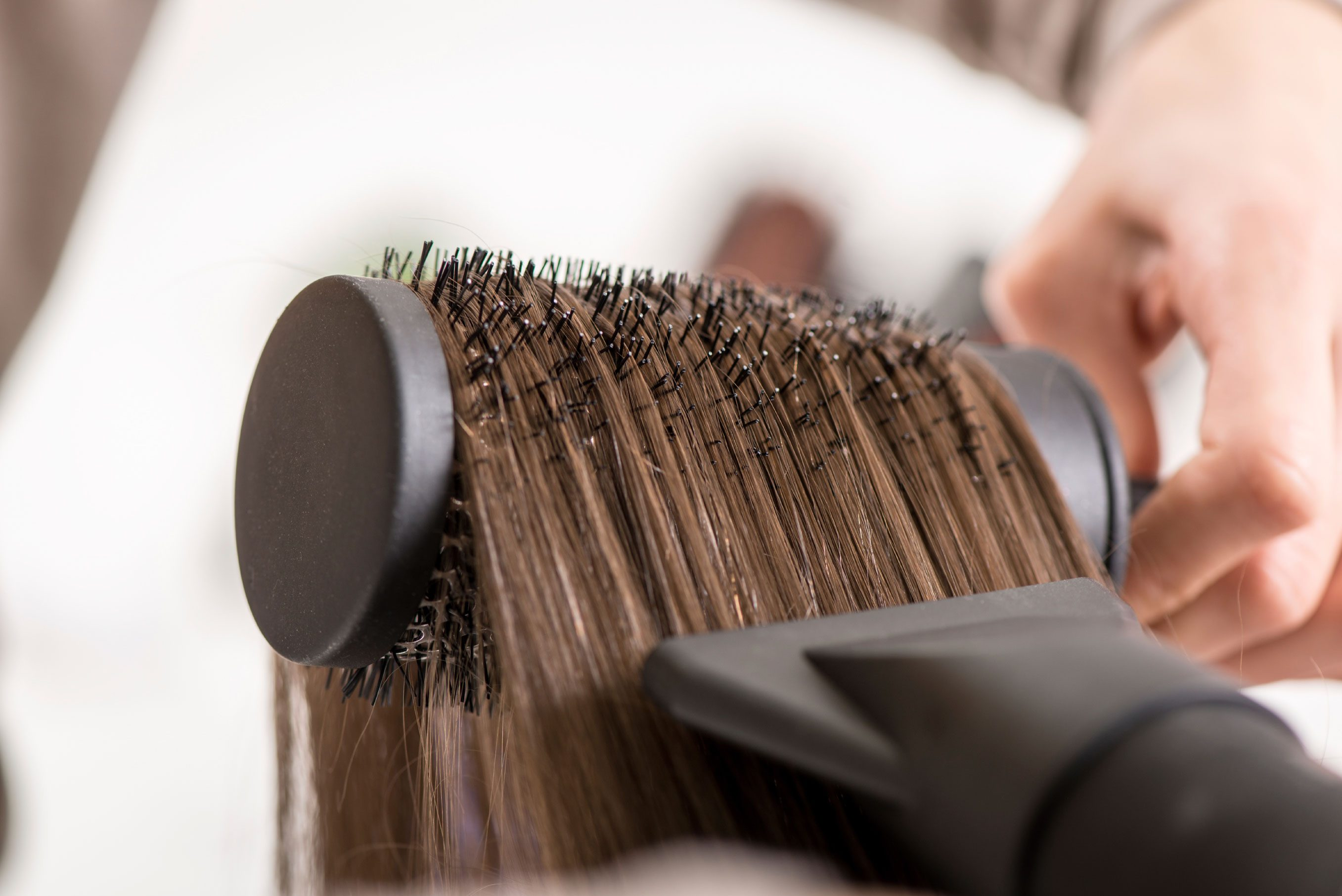 Always dry your hair completely before using a hot tool like a curling iron or a flat iron