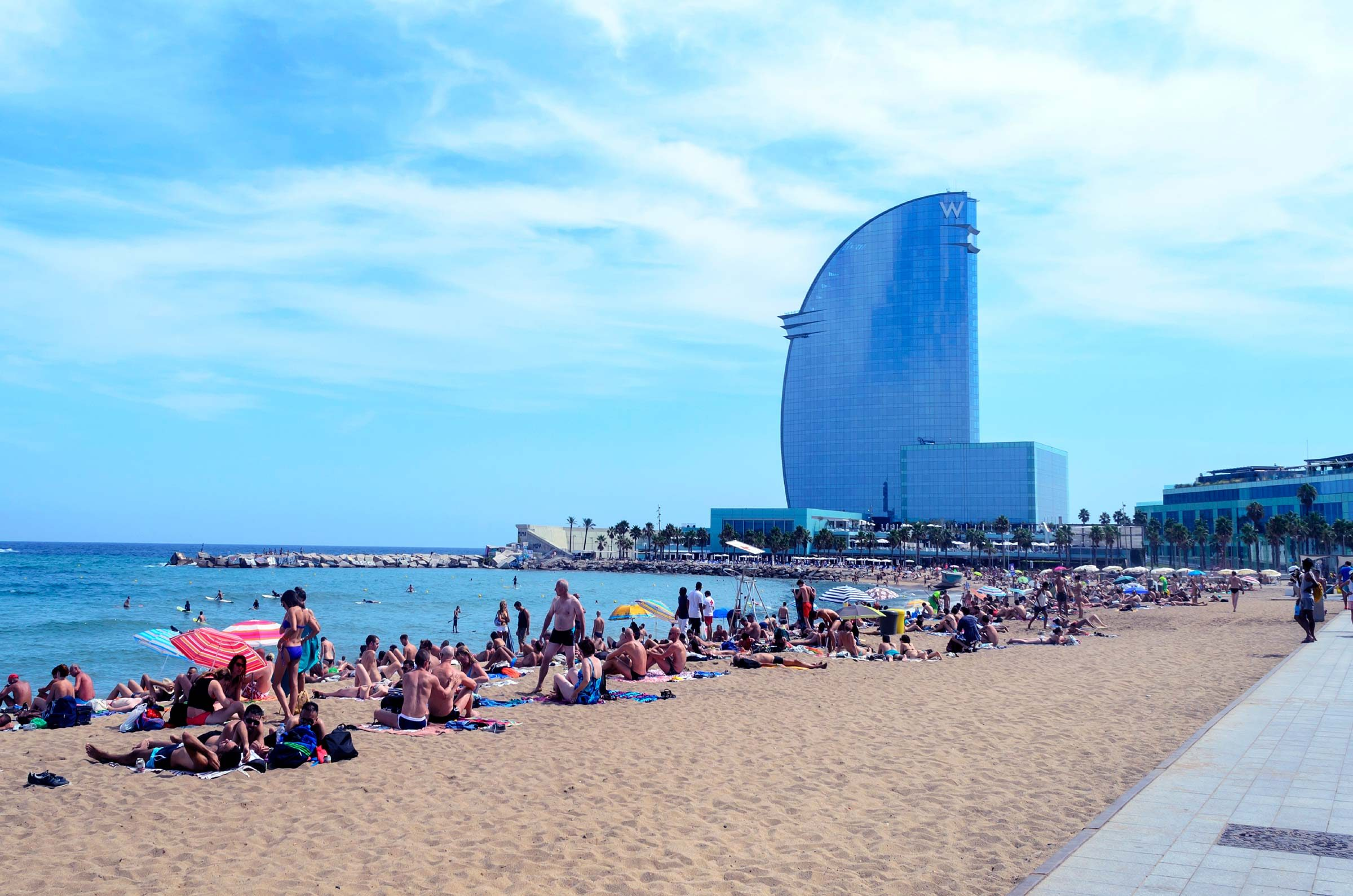 12. Bathing suits are for the beach only in Barcelona