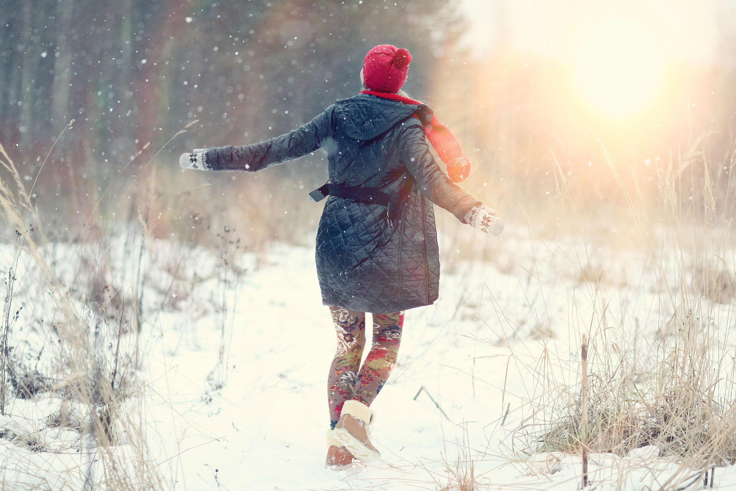 Take a 10-minute walk three times a day during the winter.