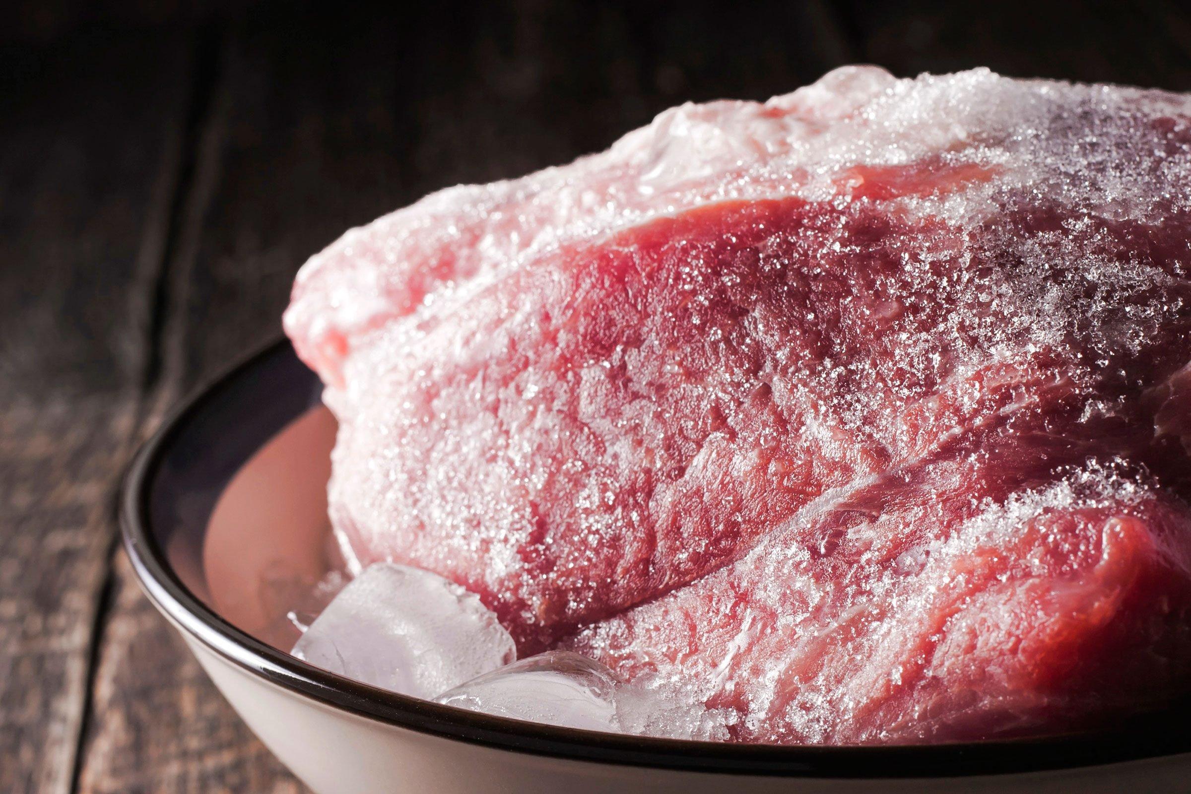 Defrost meat last minute