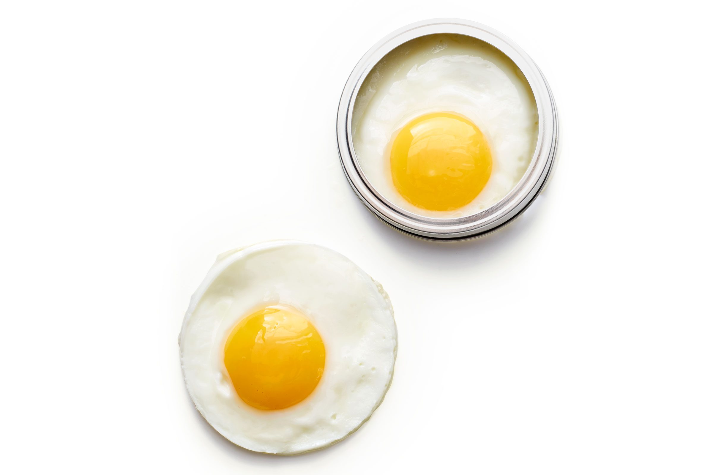 Twist open a mason jar for easy fried eggs