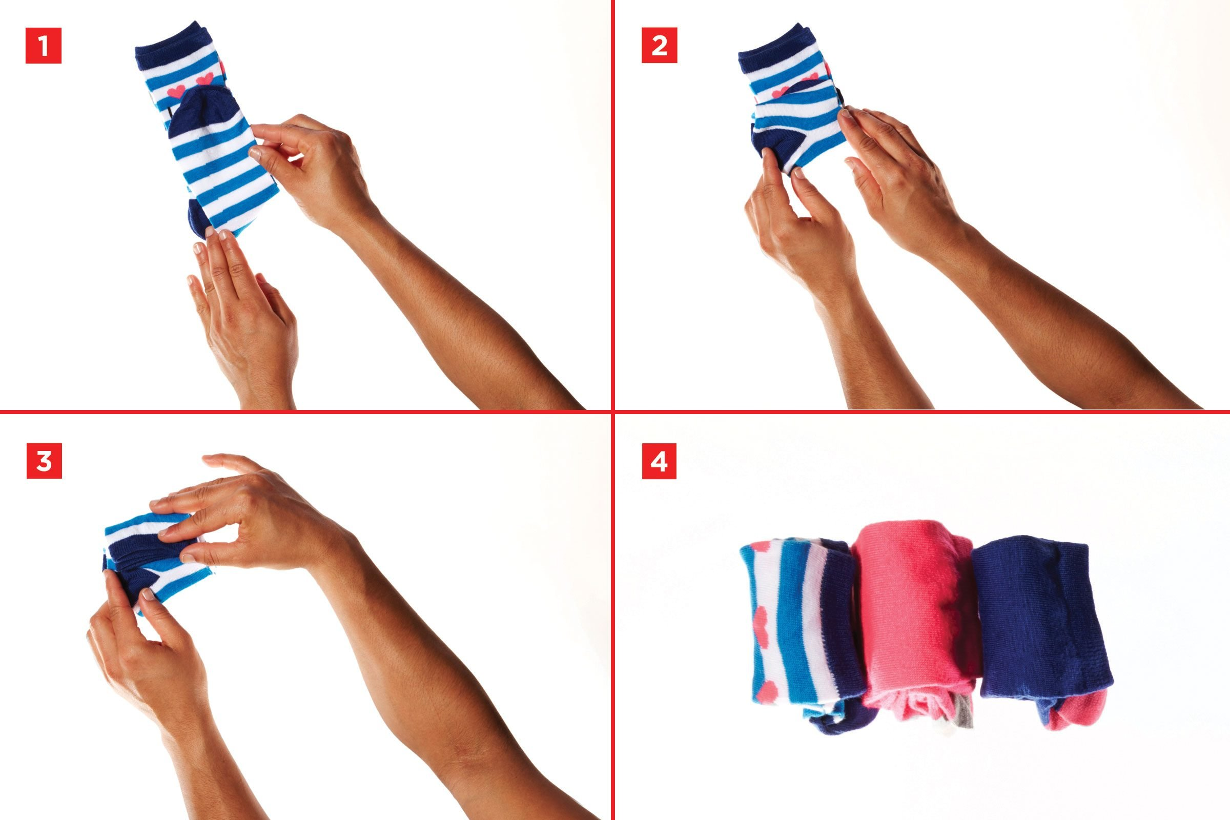 Best way to fold clothes for a trip - Socks