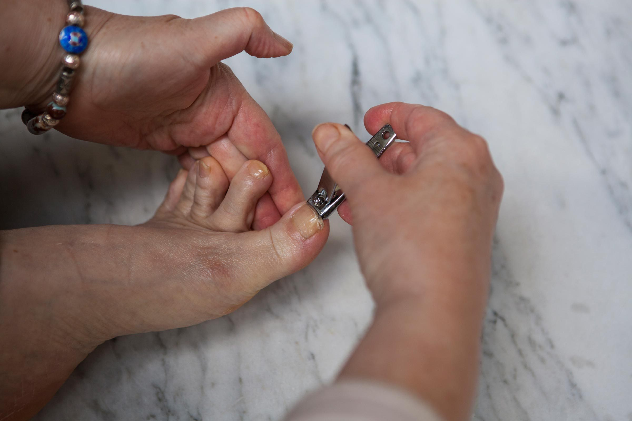 Can you: Trim your toenails standing up—without any discomfort from the bending?