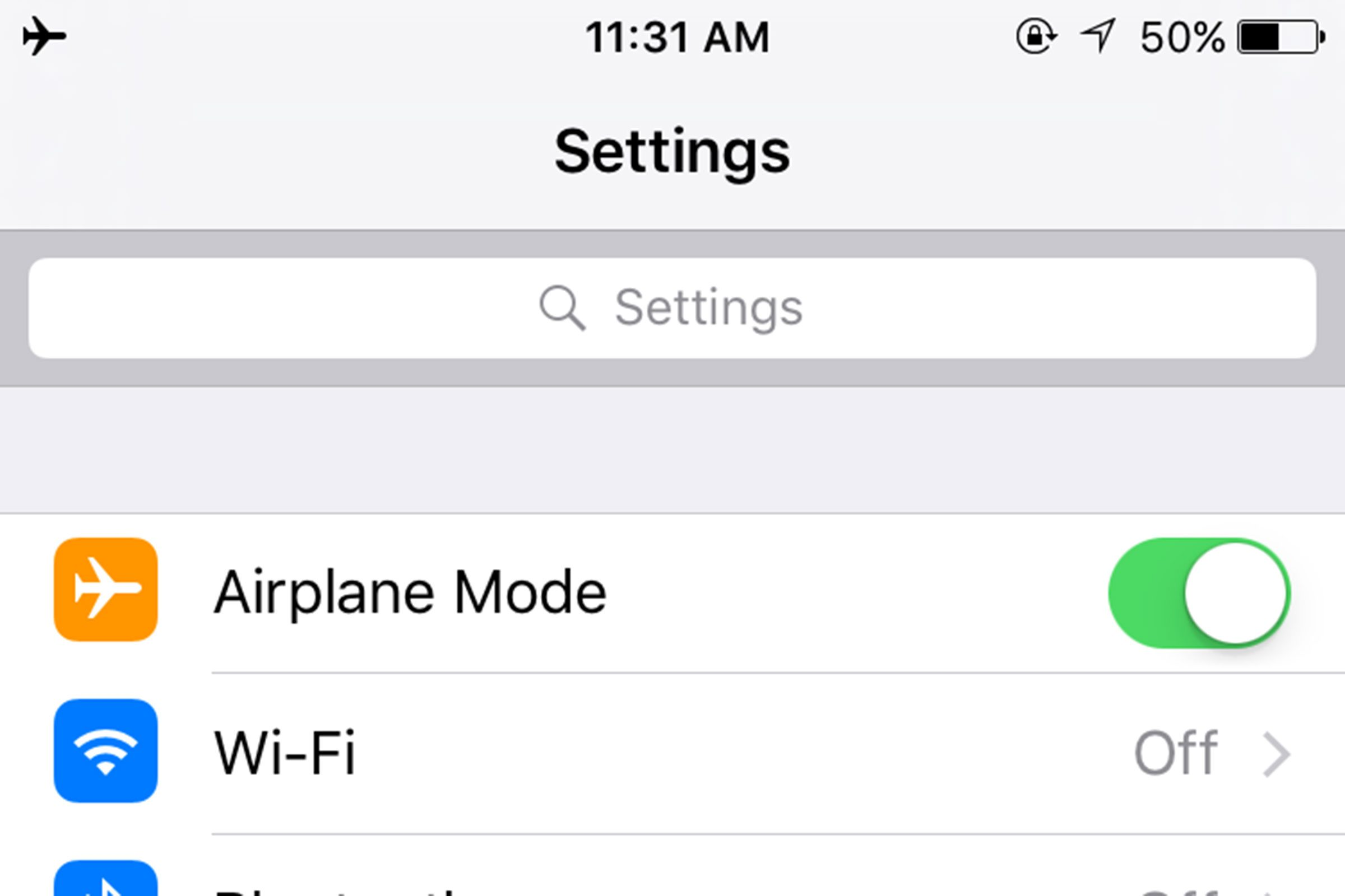 Use 'Airplane Mode'
