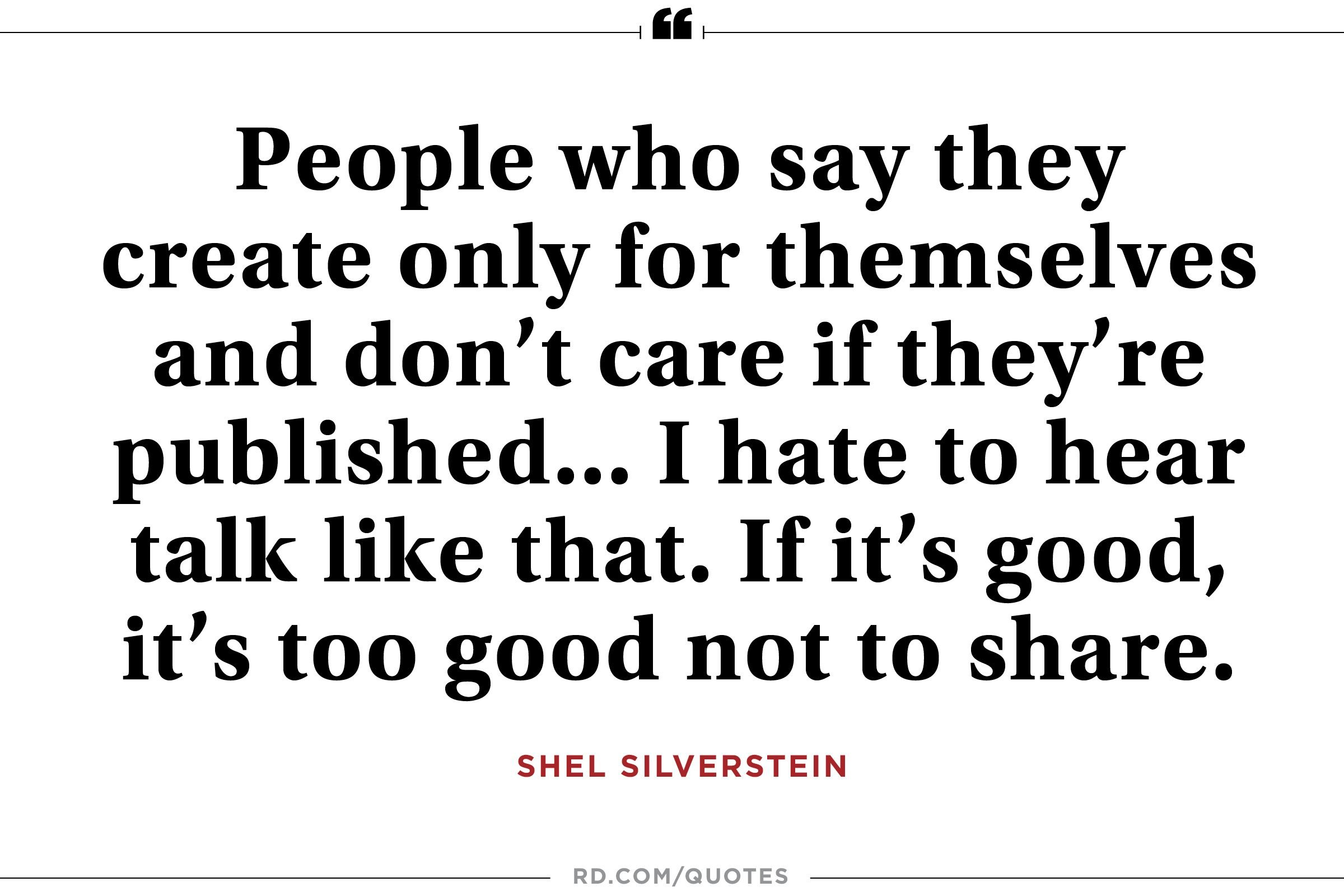 Shel Silverstein Reading Quotes: 11 Motivational Quotes From Shel Silverstein