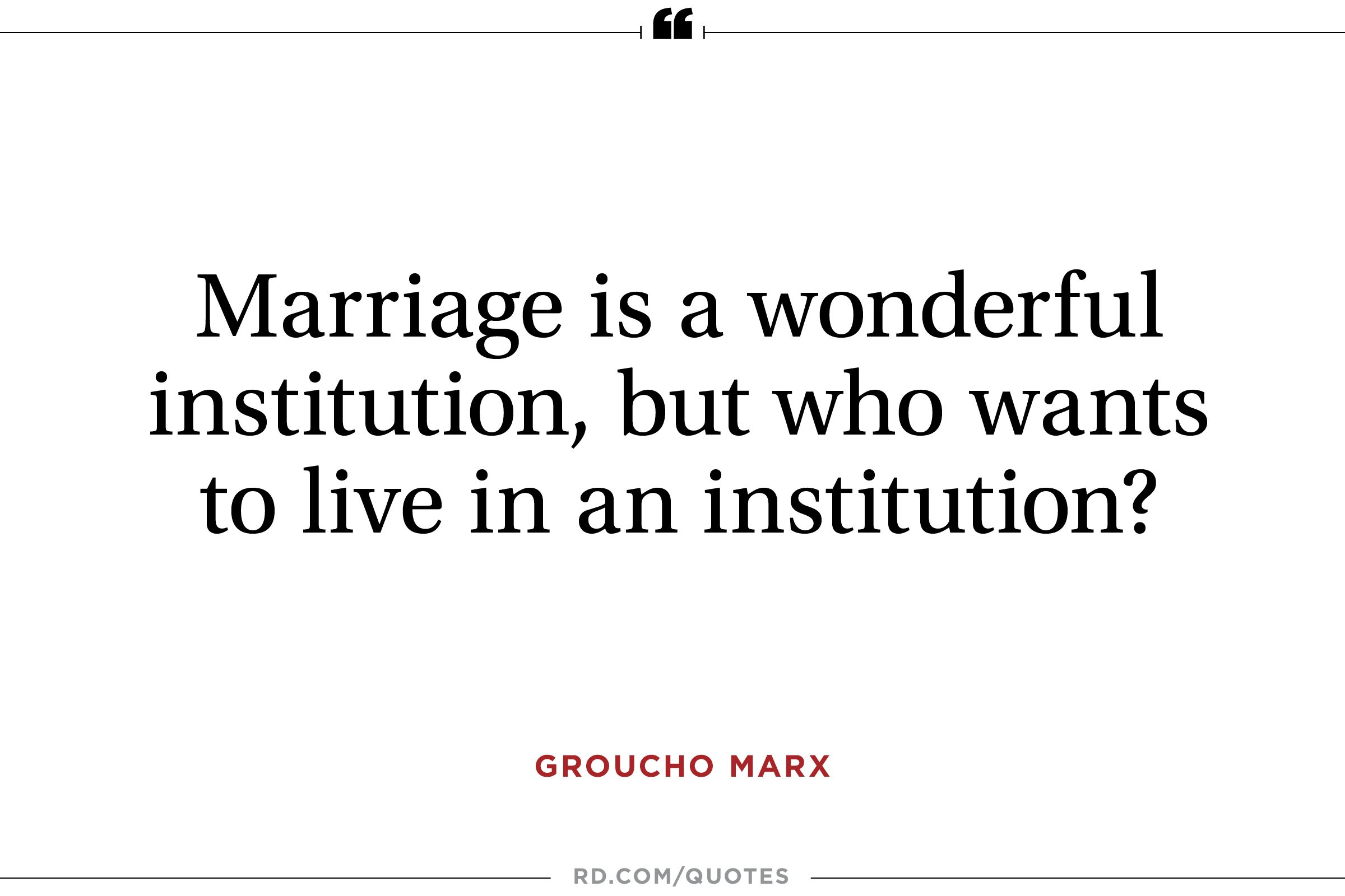 Funny Marriage Quotes From the Greatest Wits of All Time Readers ...