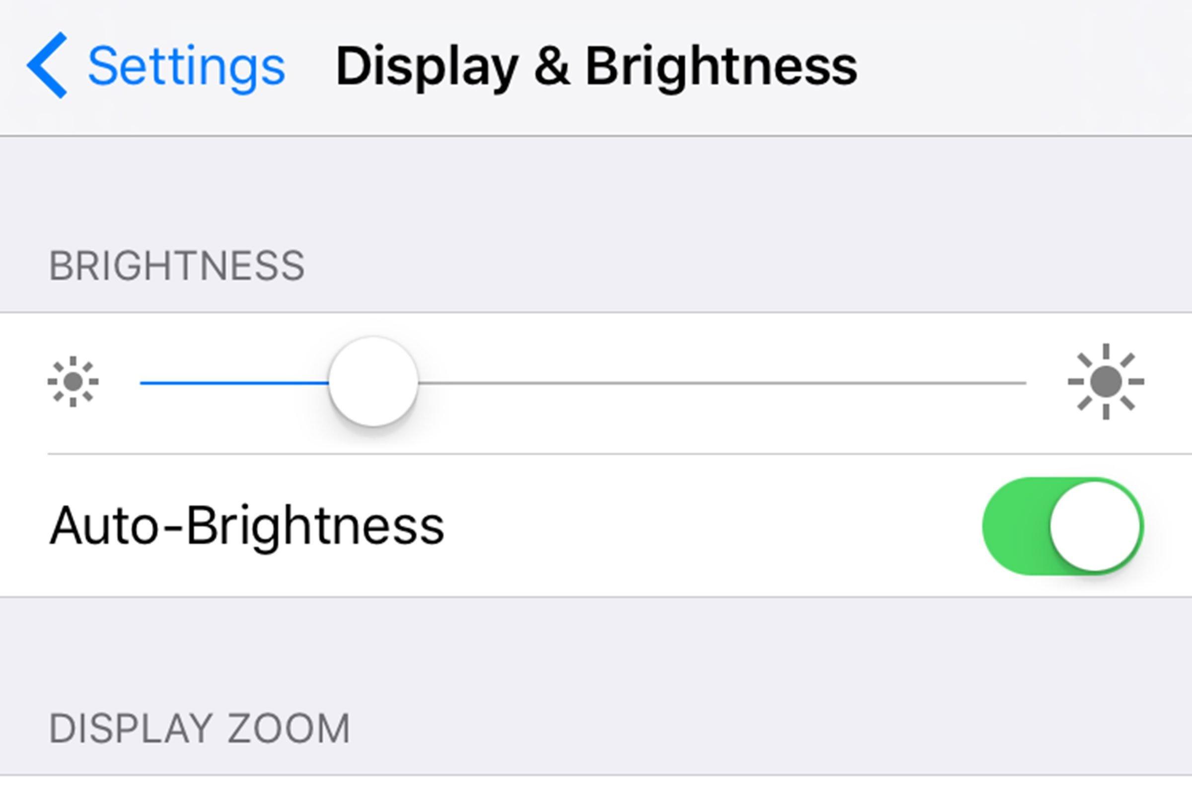 Lower the brightness
