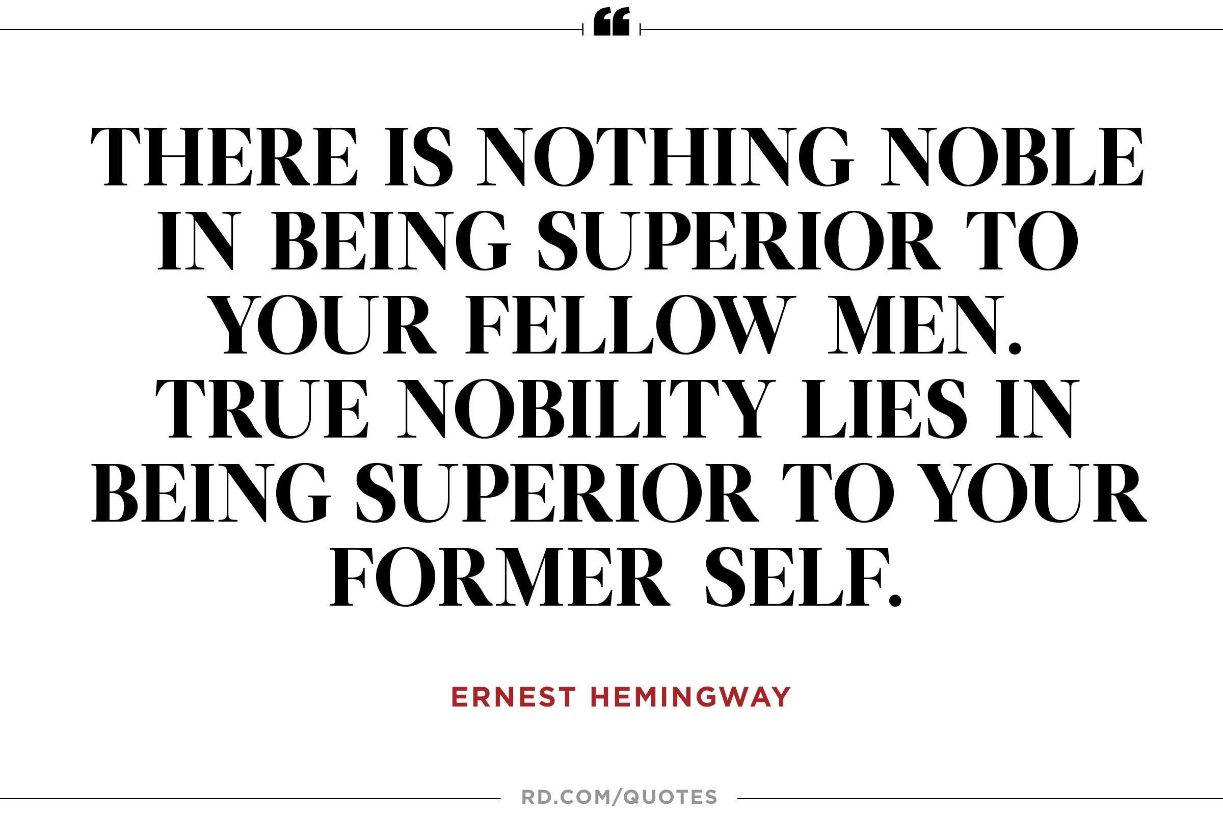 12 Inspiring Ernest Hemingway Quotes | Reader's Digest