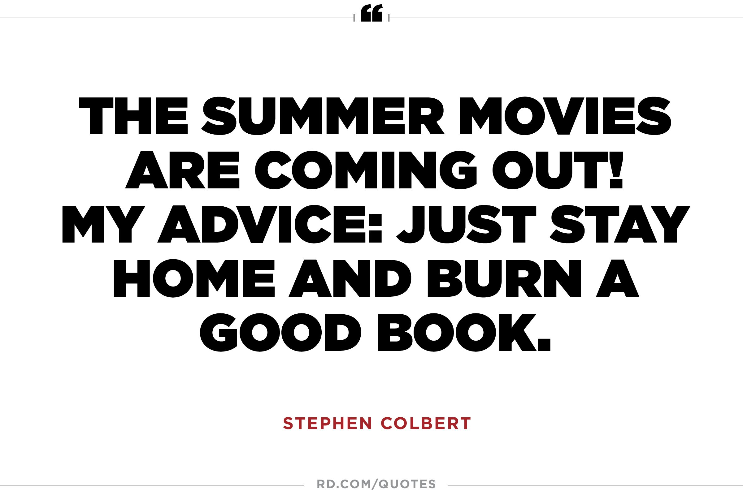 The summer movies...