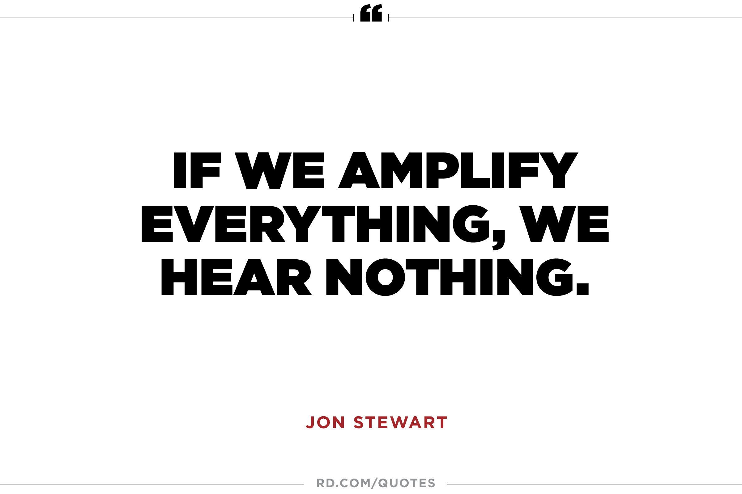Jon Stewart on Noise