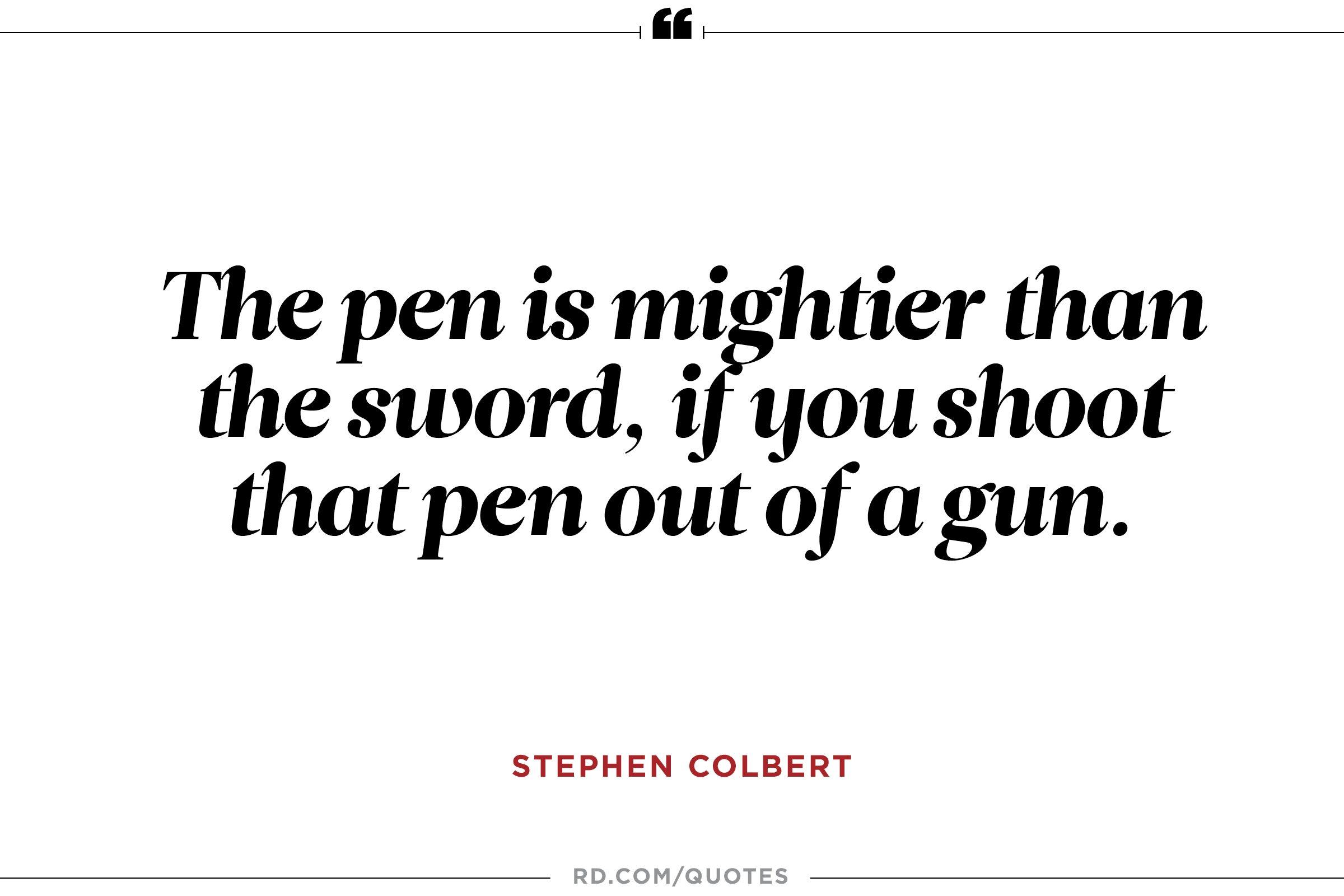 The pen is...