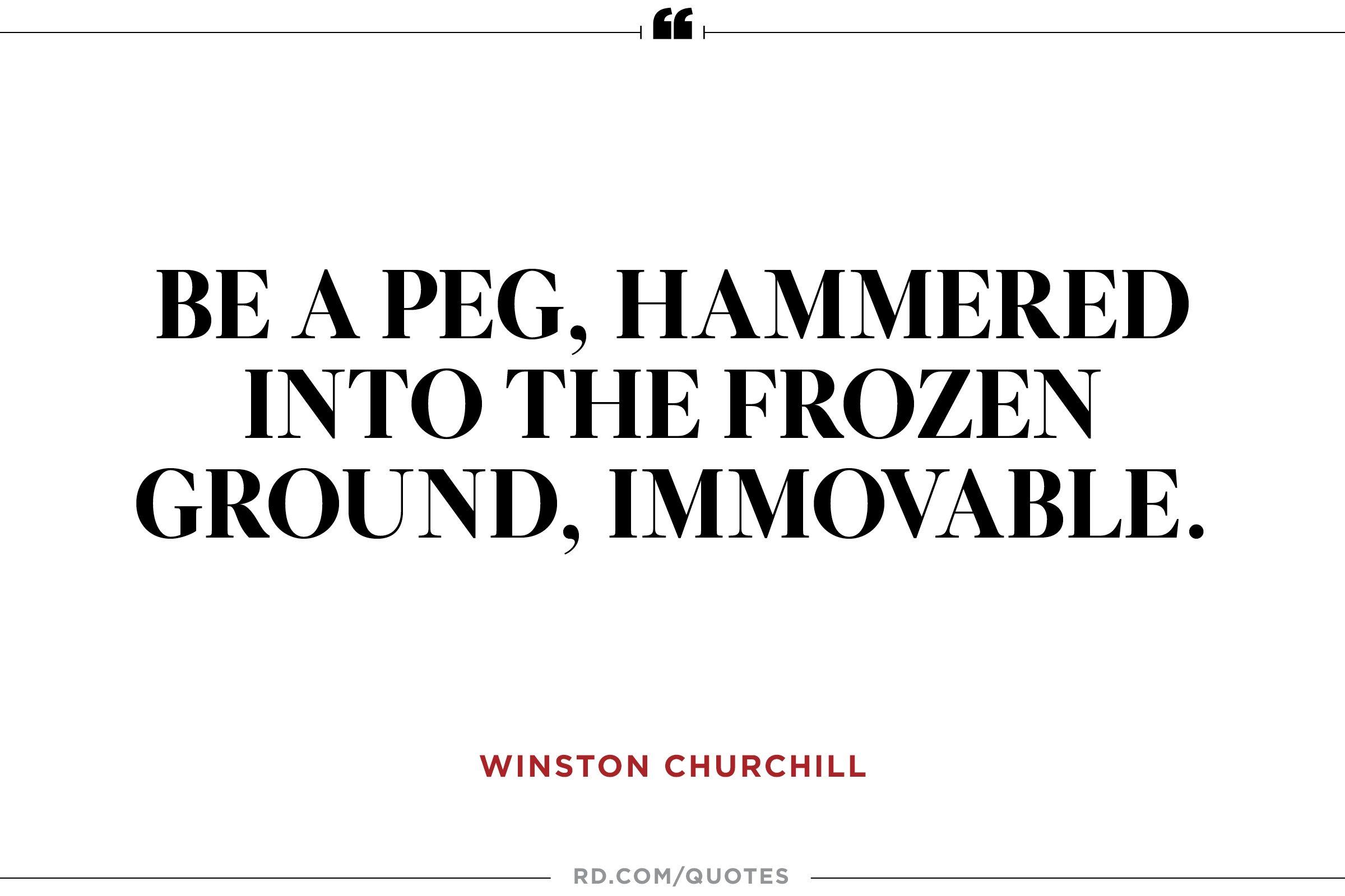 Be a peg,
