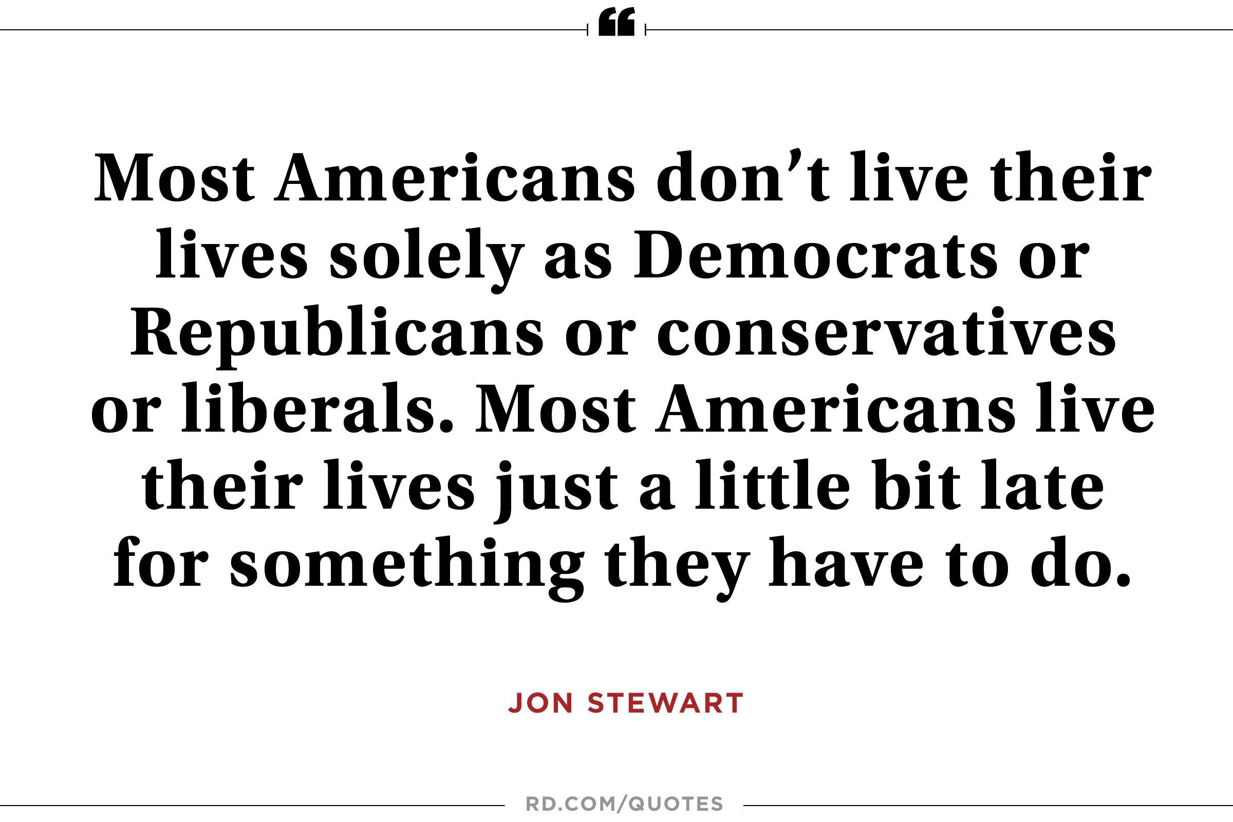 Jon Stewart on the What Unites Us