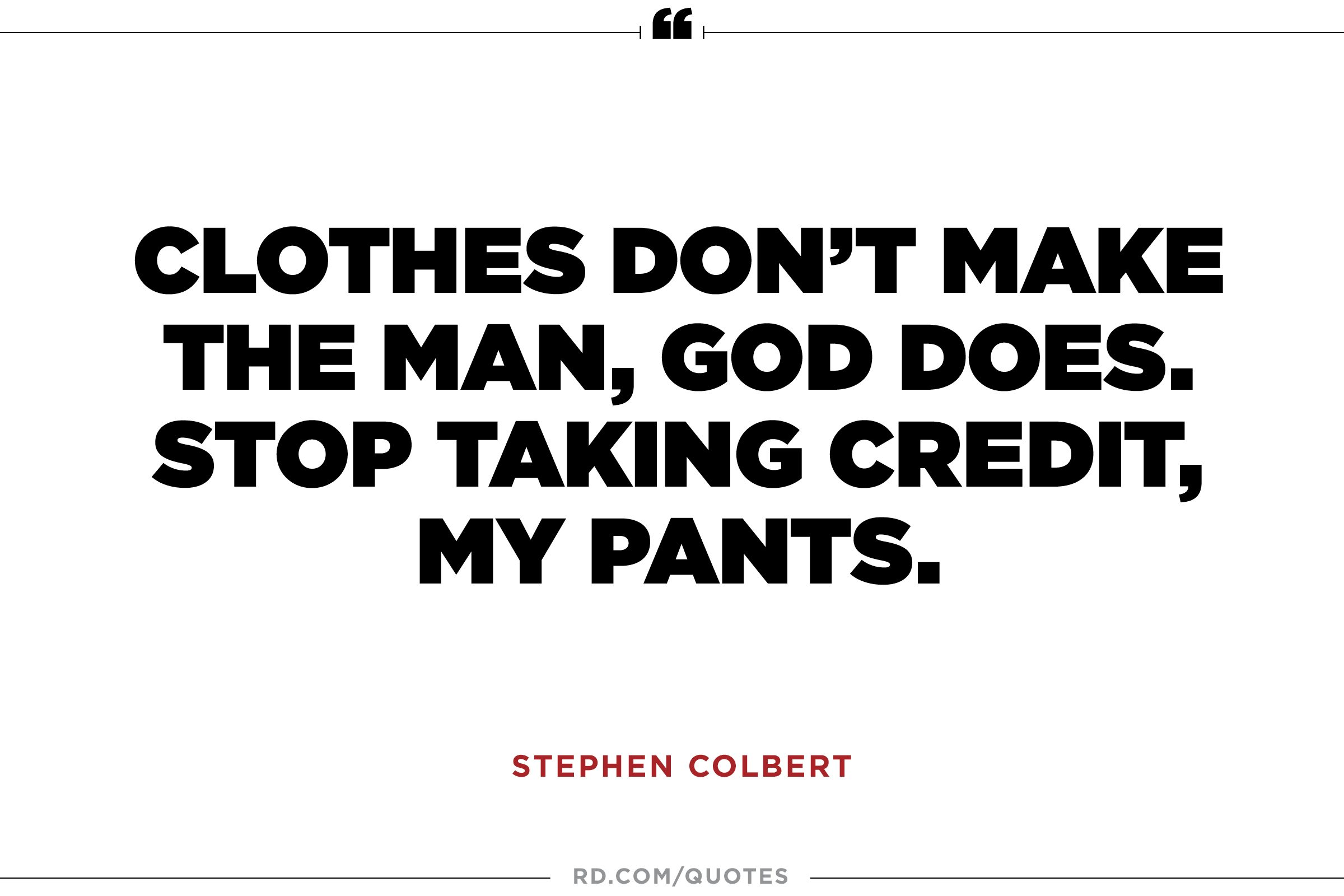 Clothes don't make...