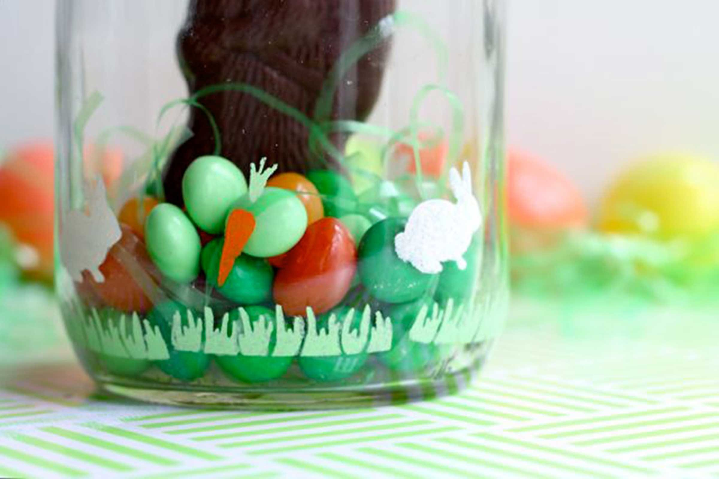Easter crafts for seniors - Candy Terrarium