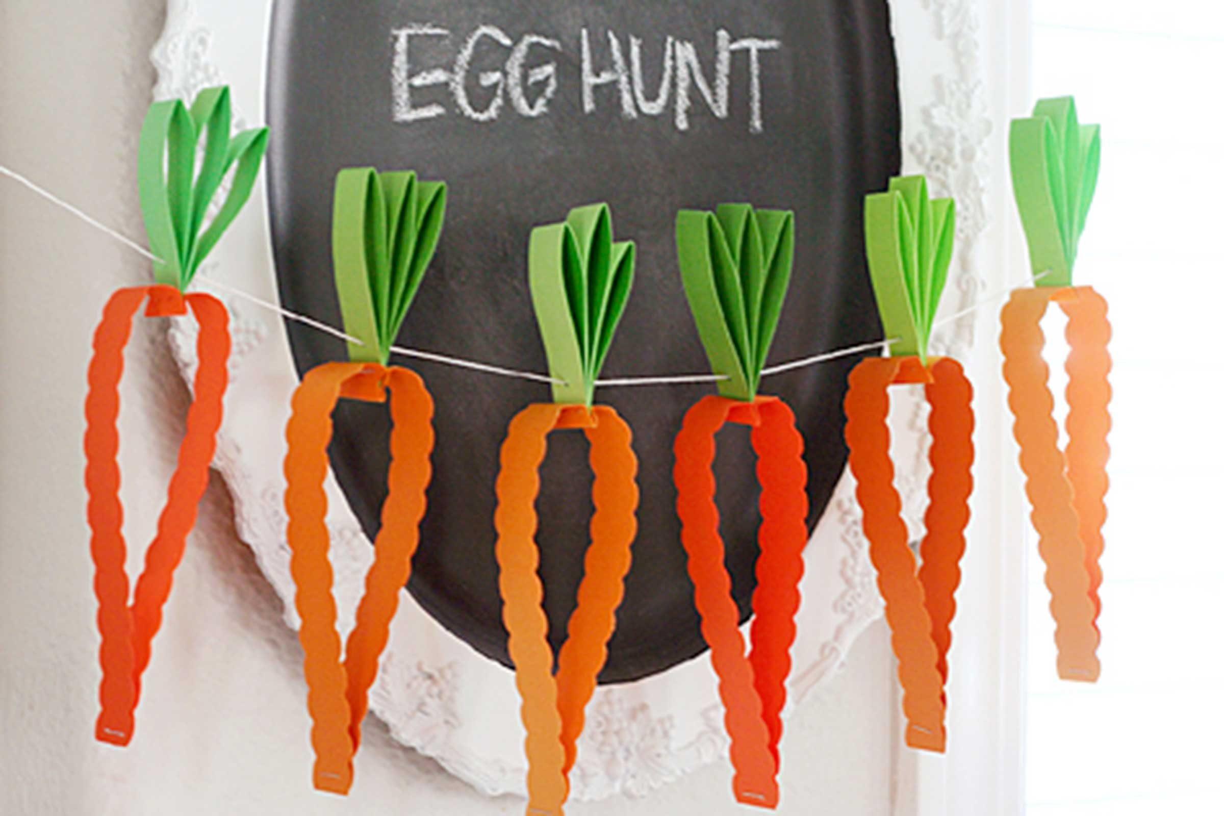 Carrot Paper Garland