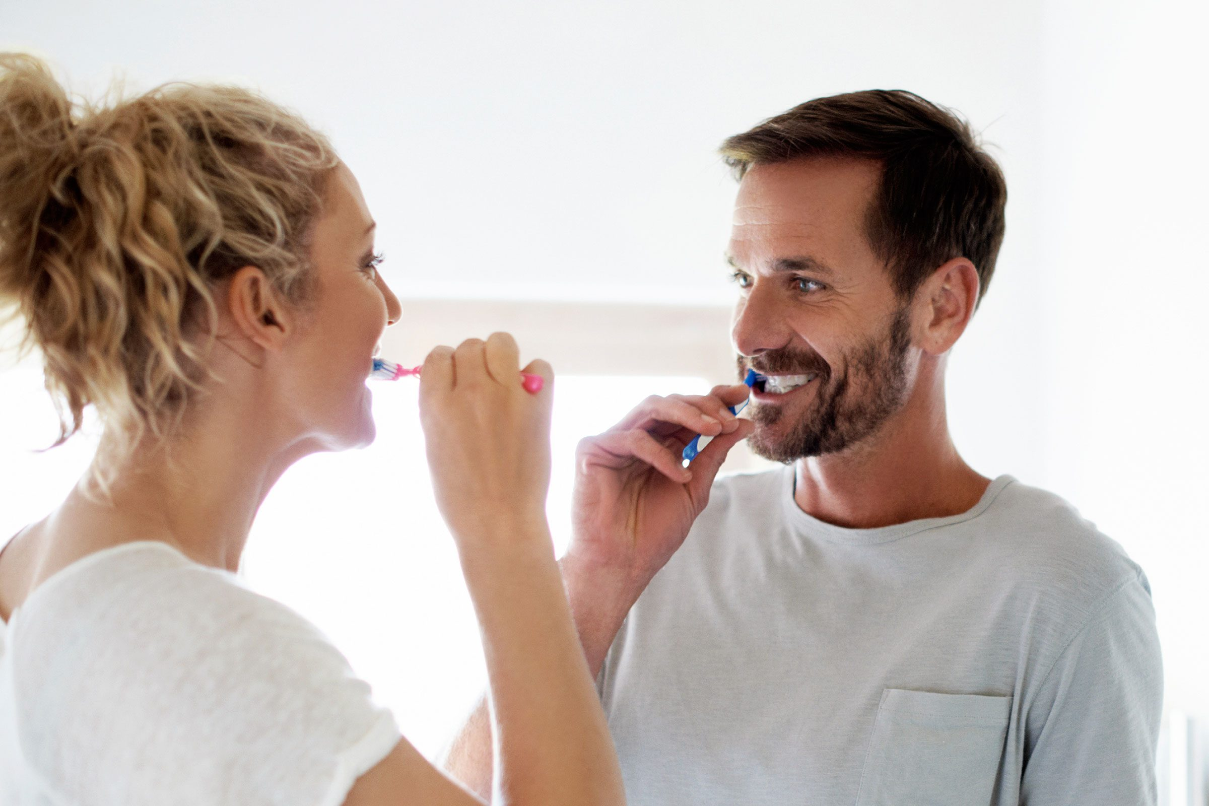 Brush teeth with your non-dominant hand.