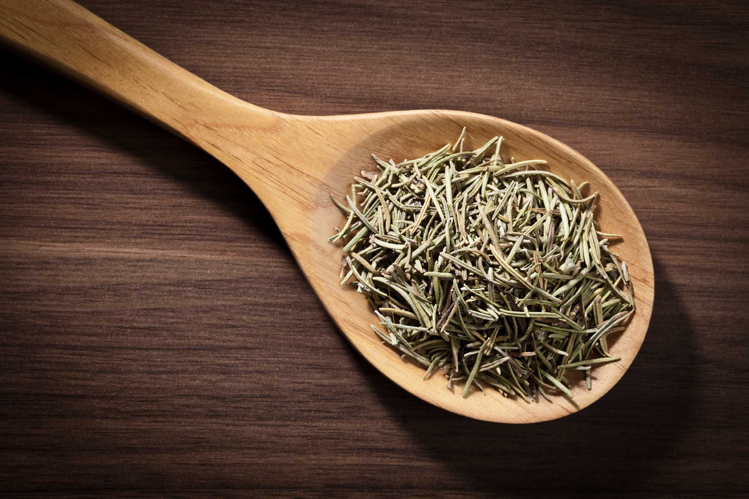 If you have dried rosemary in your kitchen, crush a small handful