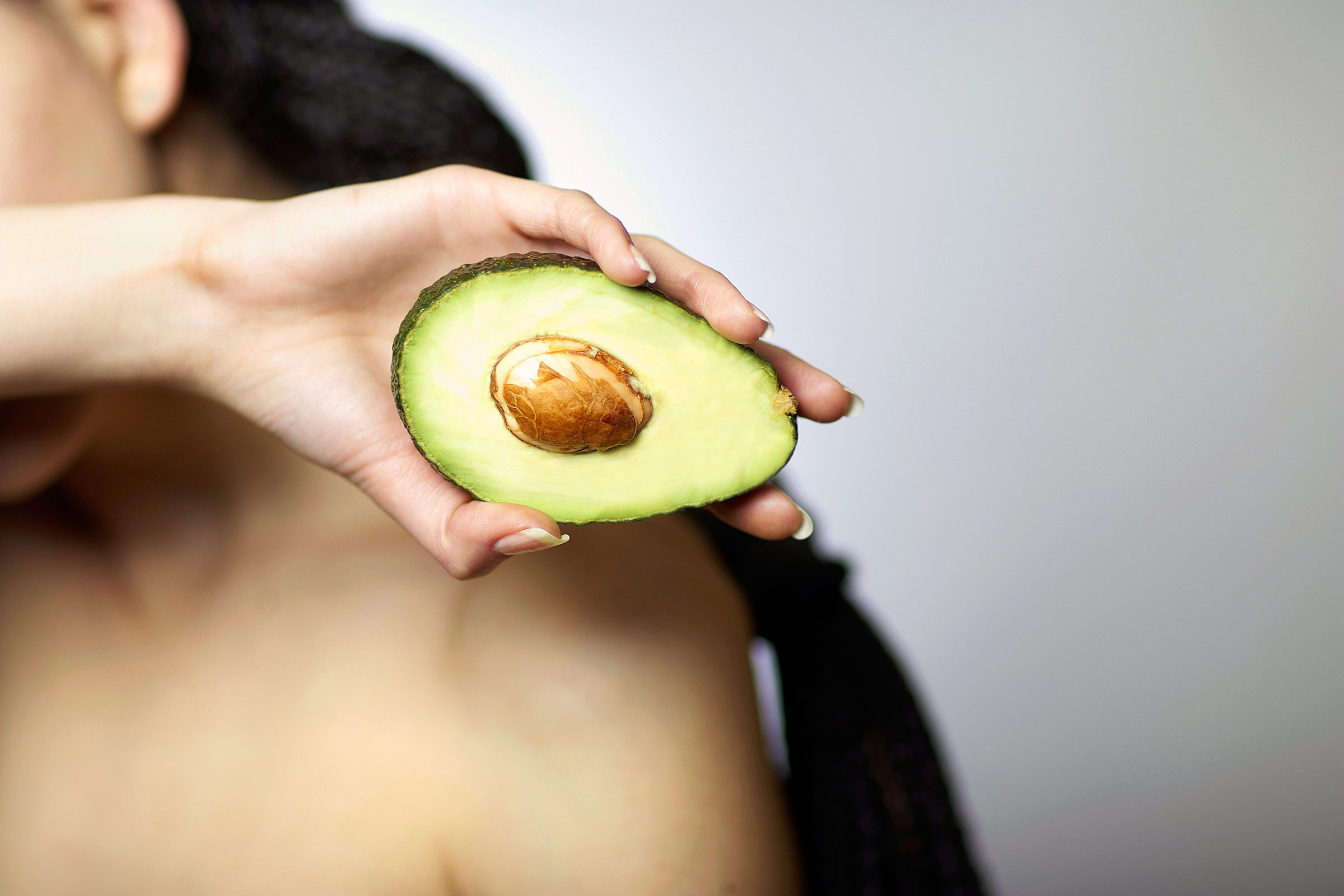 Avocado helps maintain hair health.