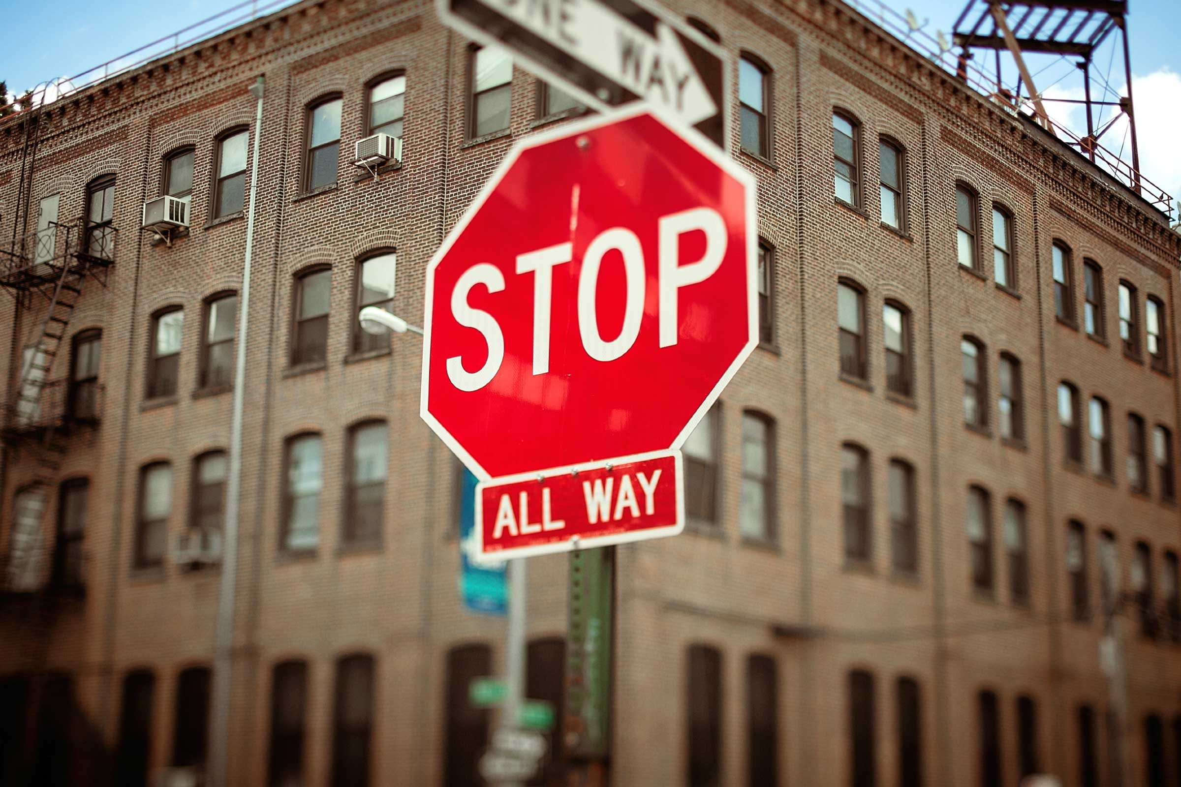 When you find yourself thinking a negative thought, picture a stop sign