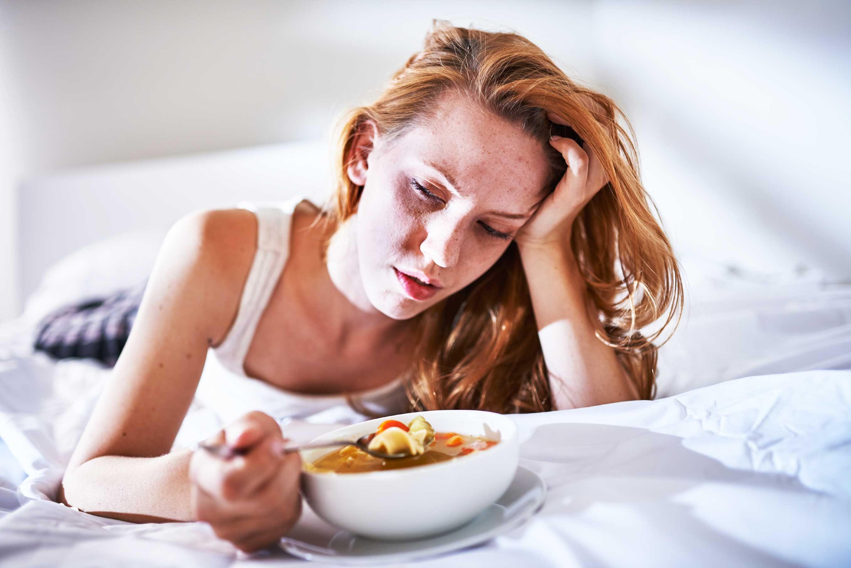 Resultado de imagen para person eating without appetite