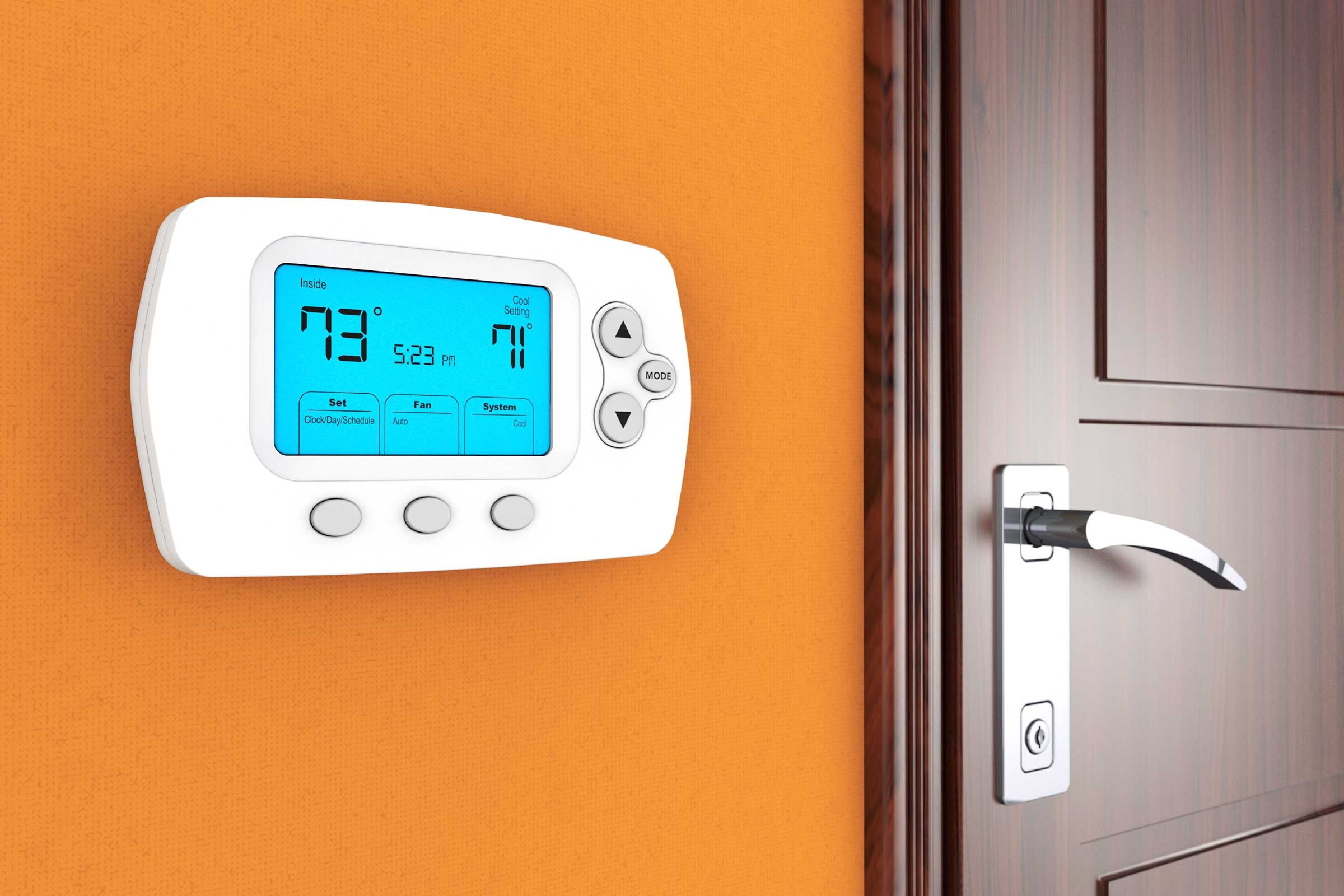 Keep your thermostat set above 65°F in the winter