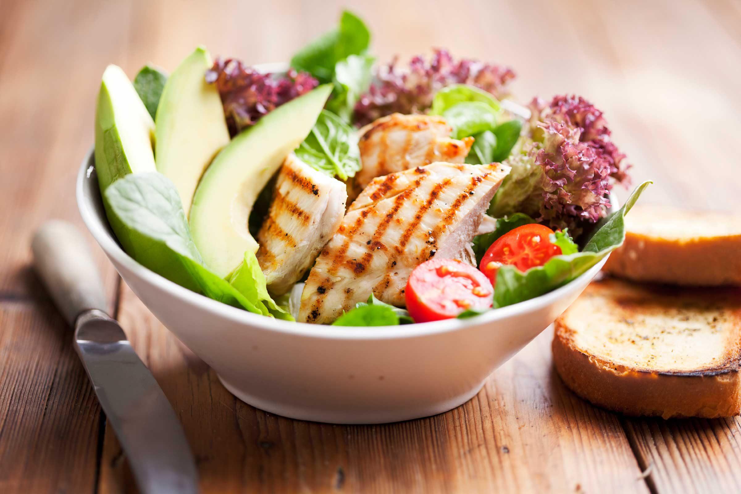 Add avocado to salads