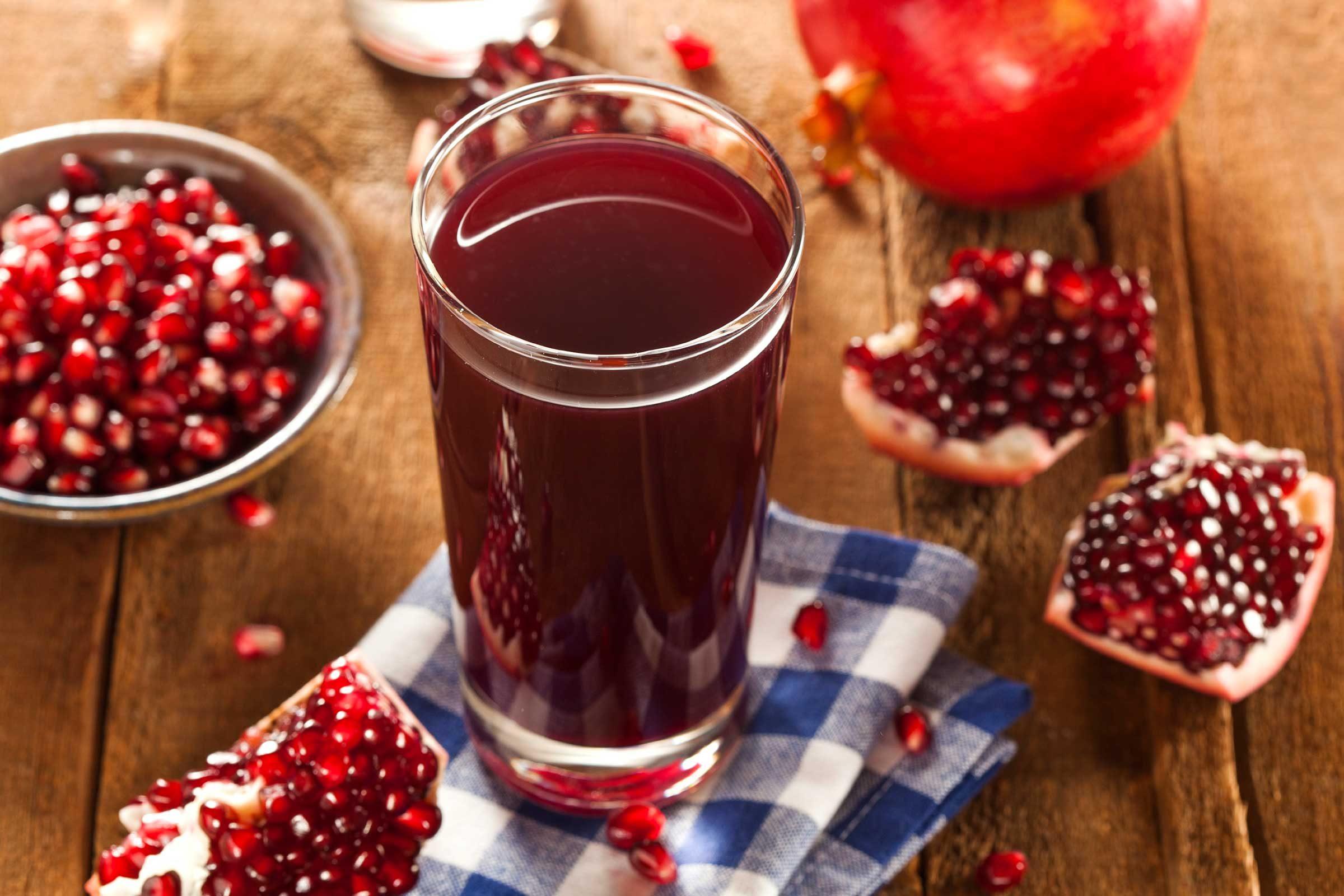 Sip pomegranate juice