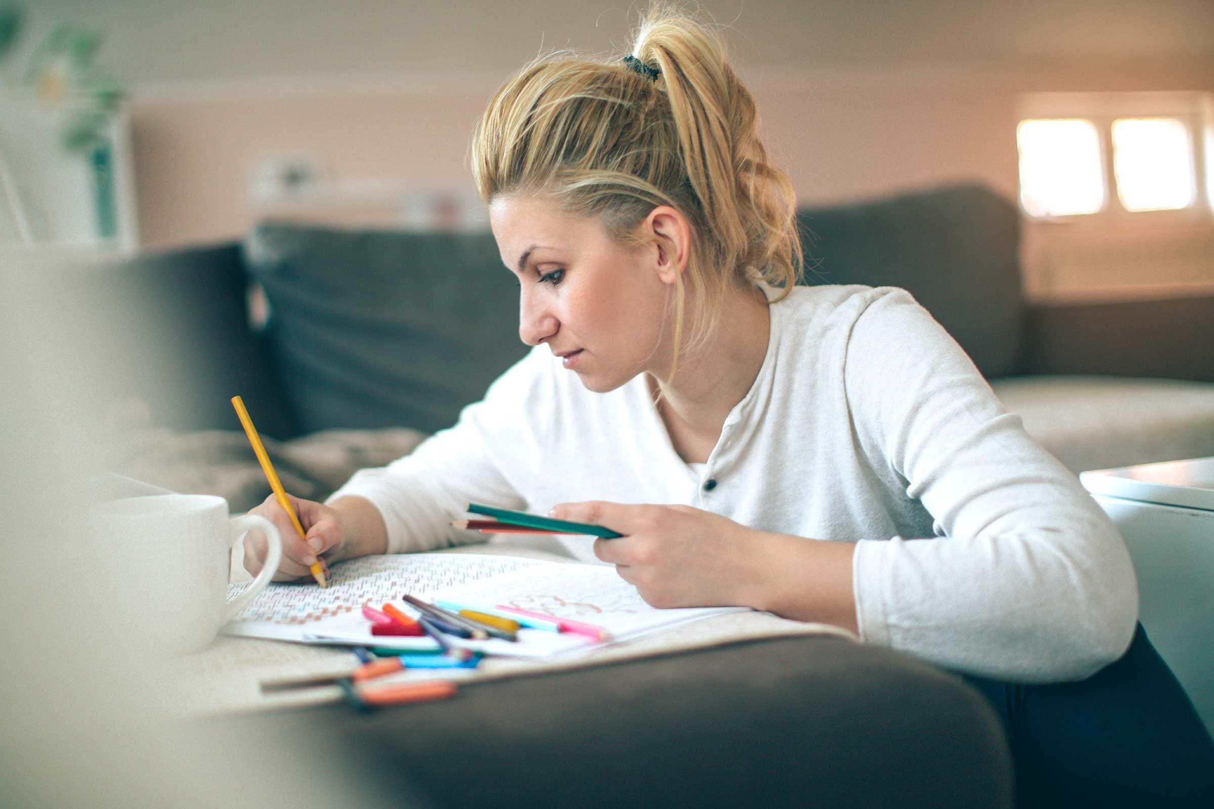Secret du corps: le coloriage peut effacer l'anxiété