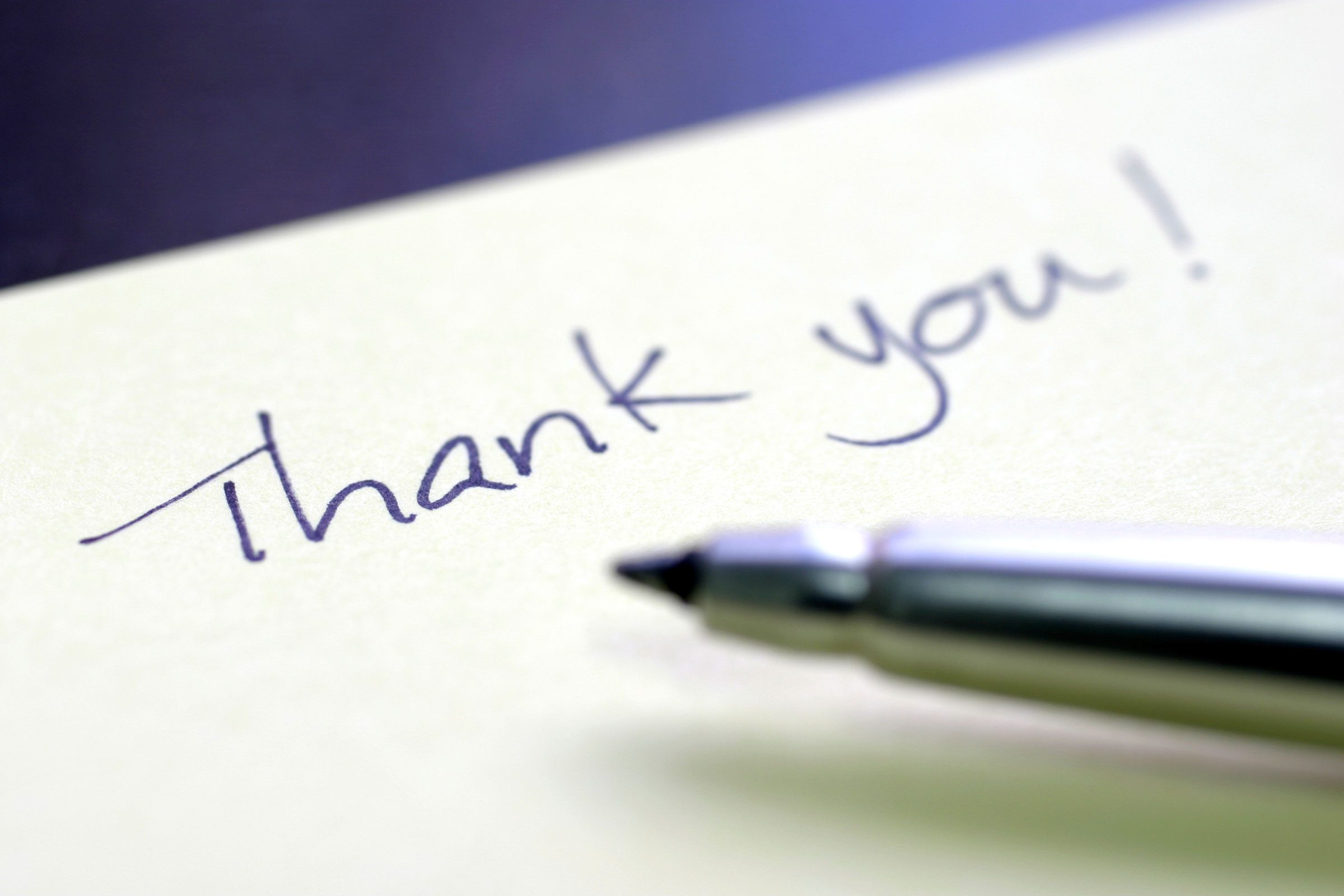 That tiny thank-you card that took you 15 seconds to write?