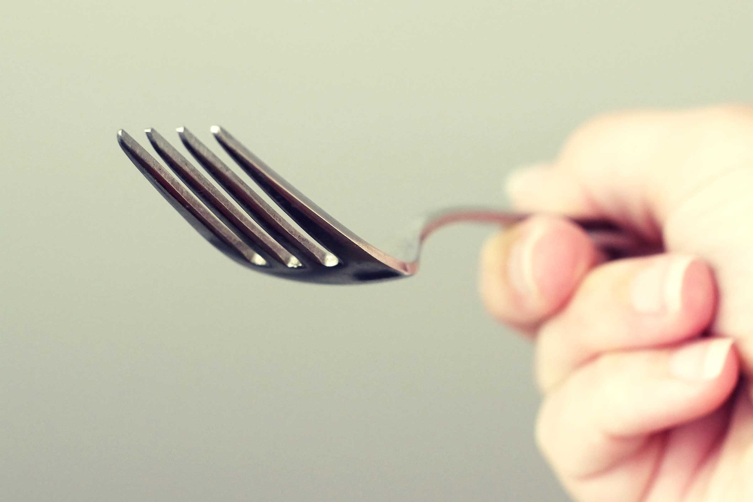 You can't find your fork—and then realize you're holding it