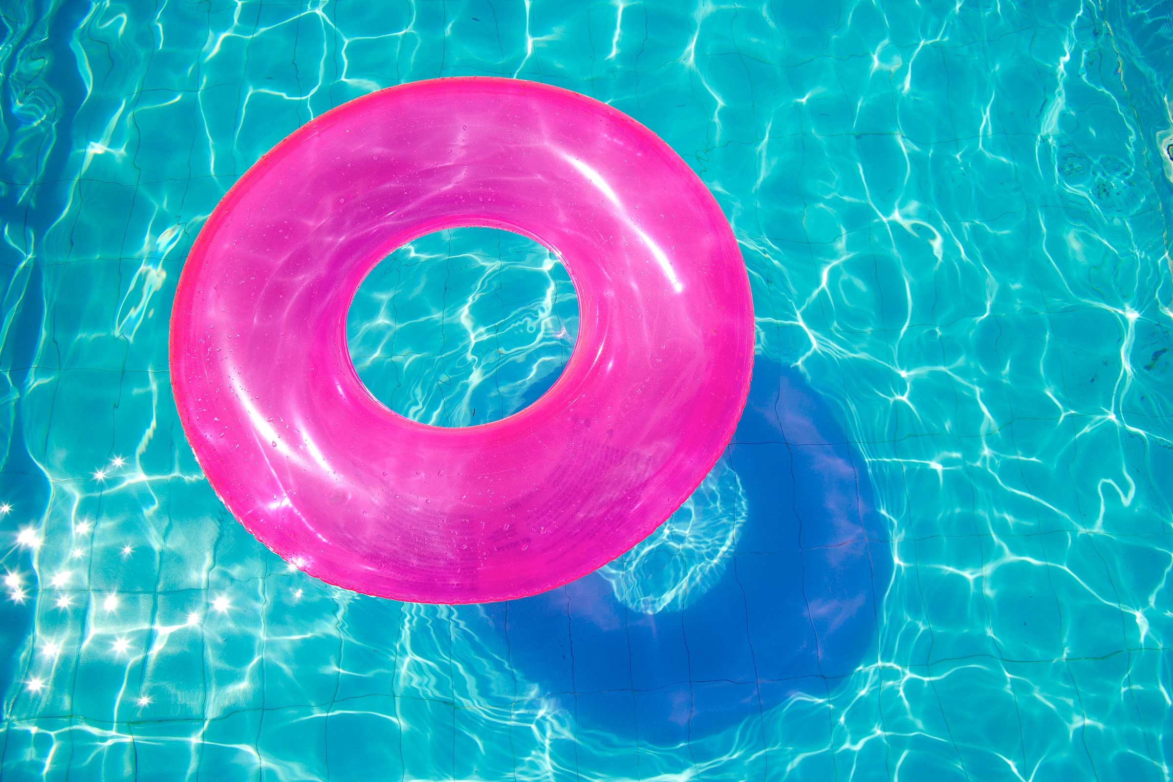 Bleach sanitizes pool toys