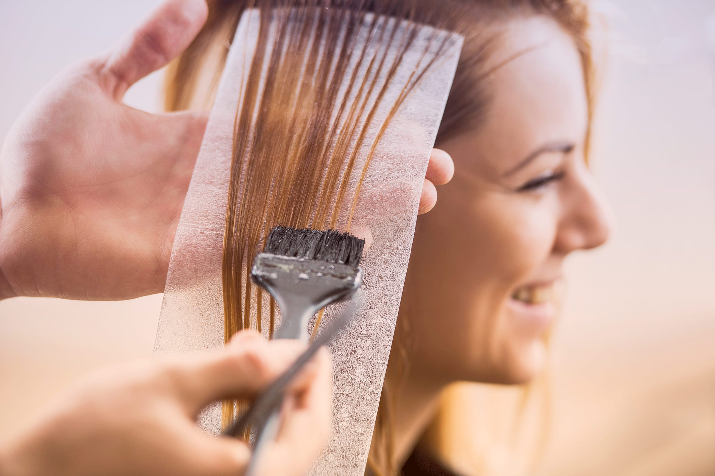 Using hair dye: possibly harmful.
