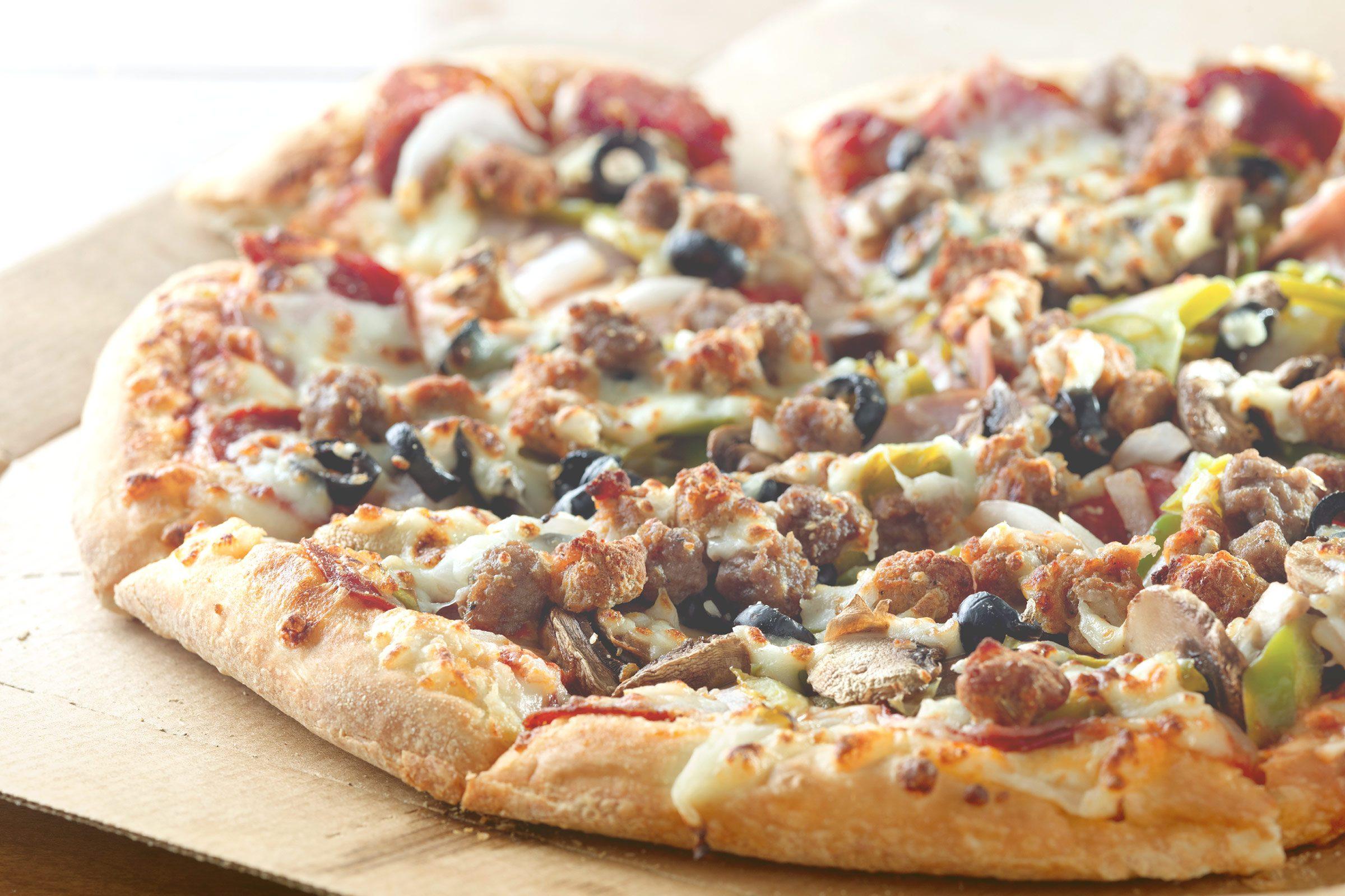 A whole lotta pizza