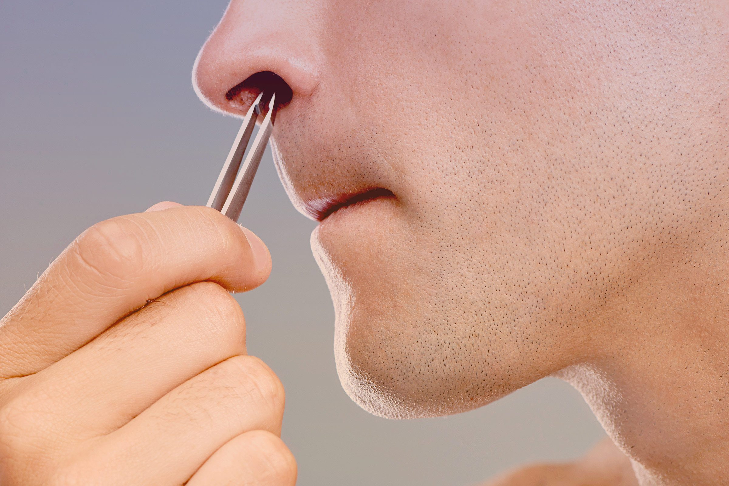 Plucking your nose hair: harmful.